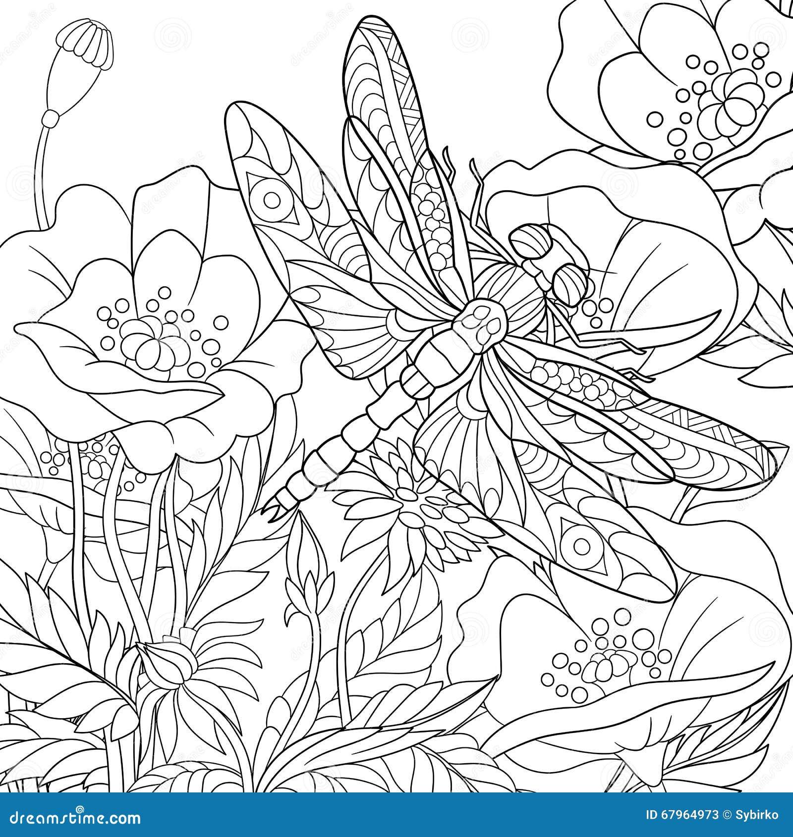 Τυποποιημένο έντομο λιβελλουλών Zentangle