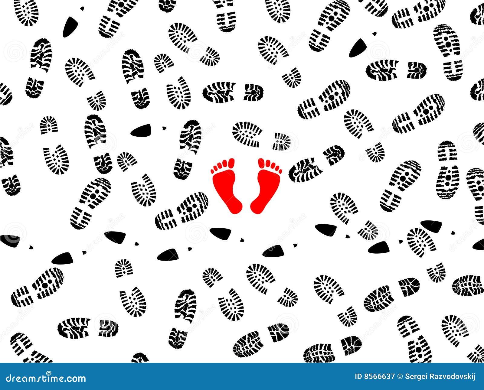 τυπωμένες ύλες ποδιών