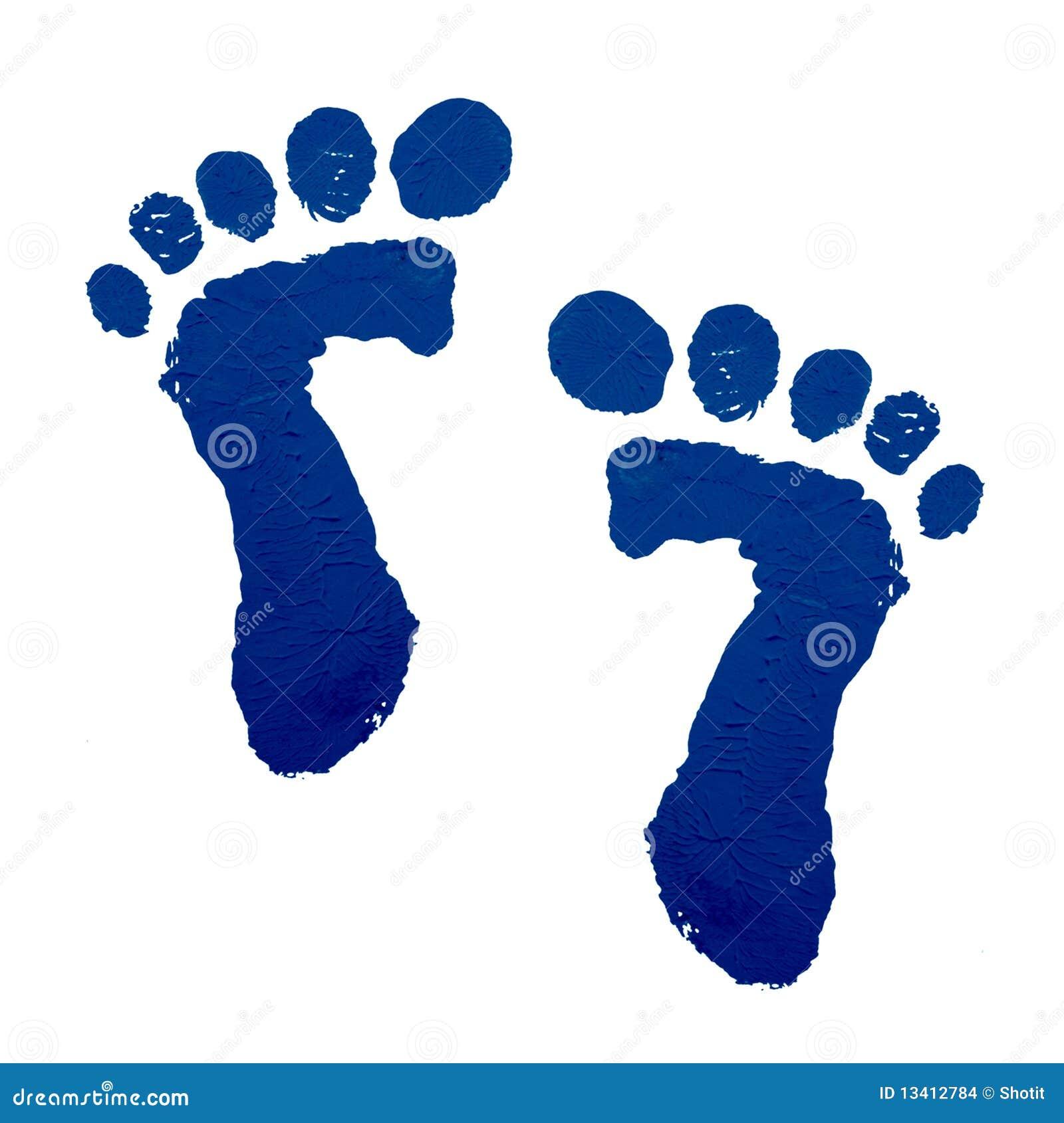 τυπωμένη ύλη ποδιών μωρών