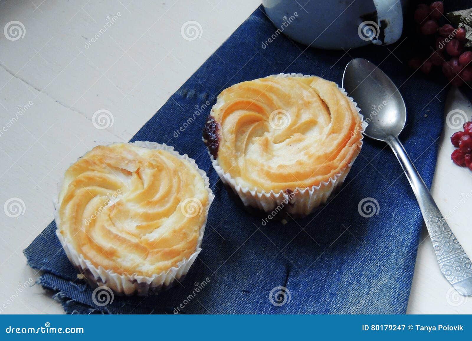Τυρί εξοχικών σπιτιών - σοκολάτα cupcakes