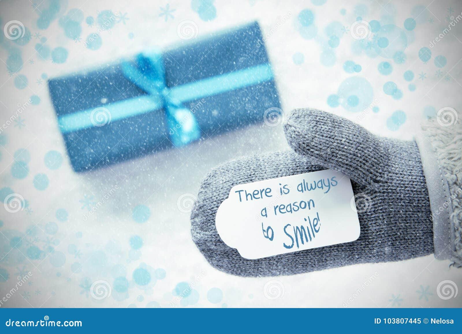 Τυρκουάζ δώρο, γάντι, πάντα ένας λόγος να χαμογελάσει, Snowflakes