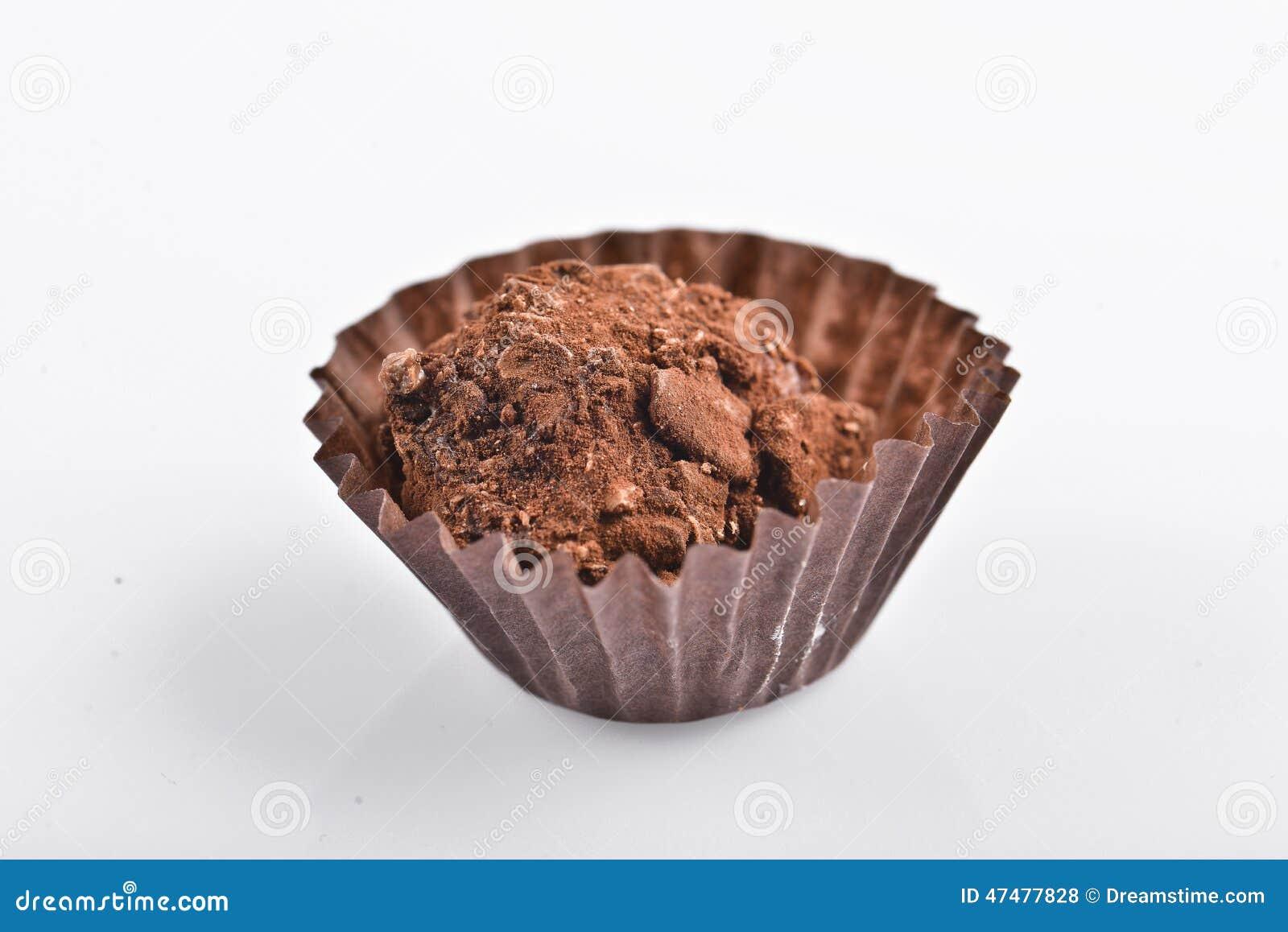 τύλιγμα τρουφών απεικόνισης σοκολάτας ανασκόπησης