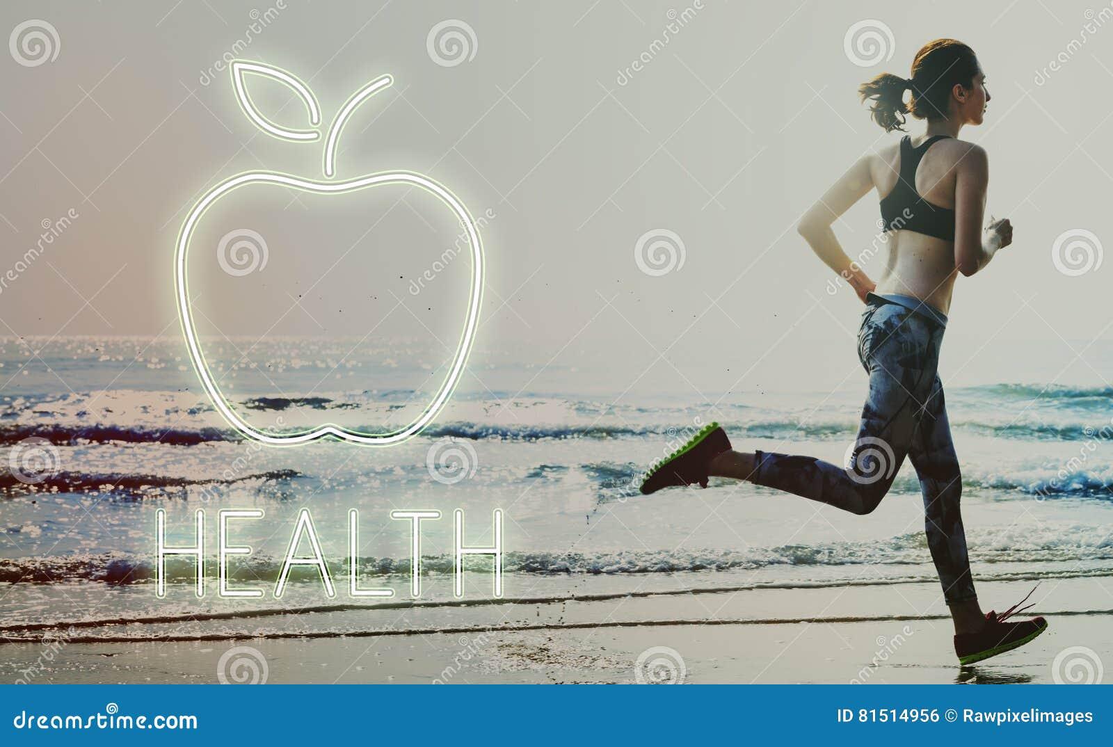 Υγείας διατροφής οργανική έννοια κατανάλωσης της Apple υγιής