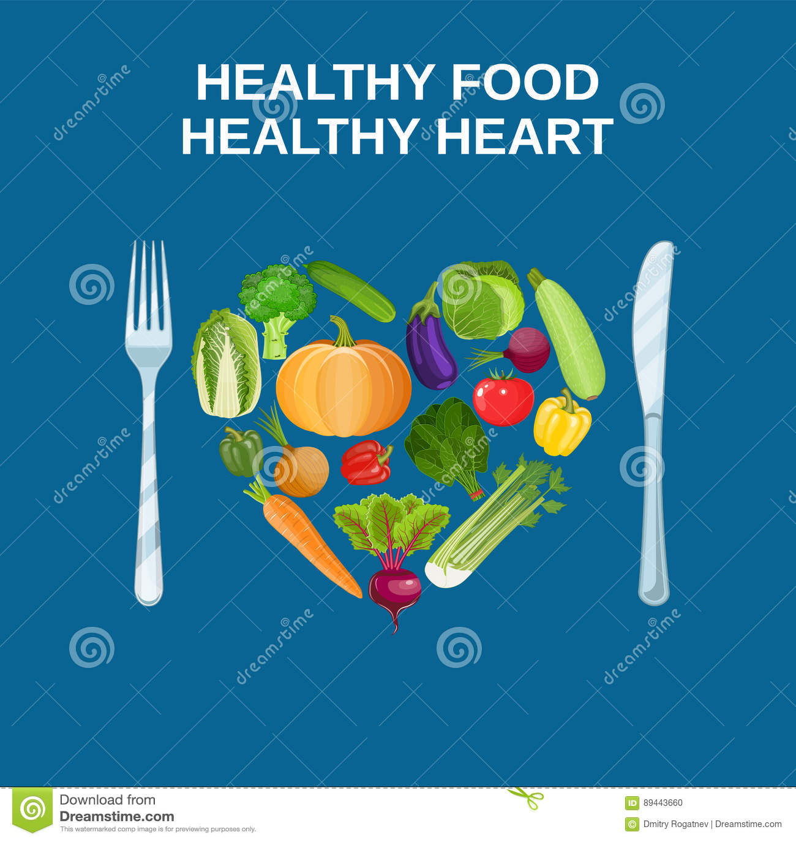 Υγιής καρδιά με την υγιή έννοια τροφίμων