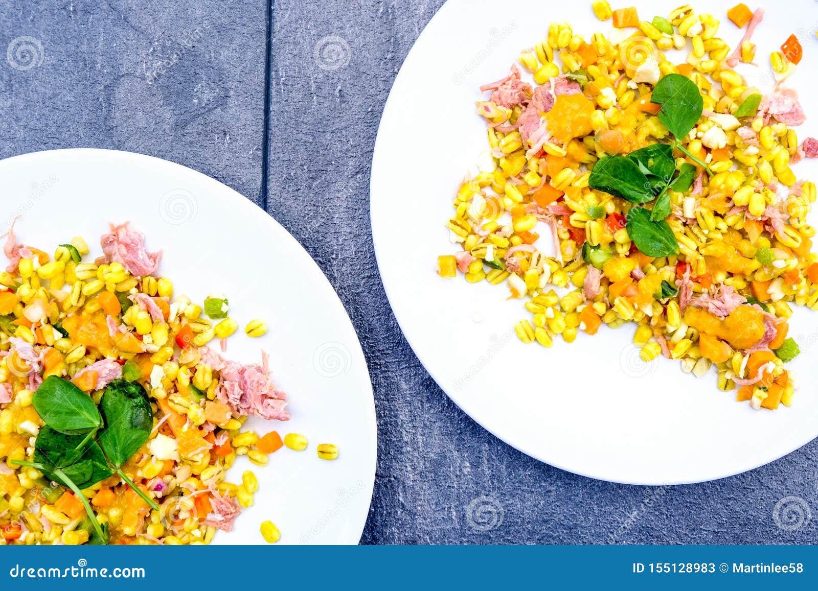 Υγιής Hock ζαμπόν θερινή σαλάτα