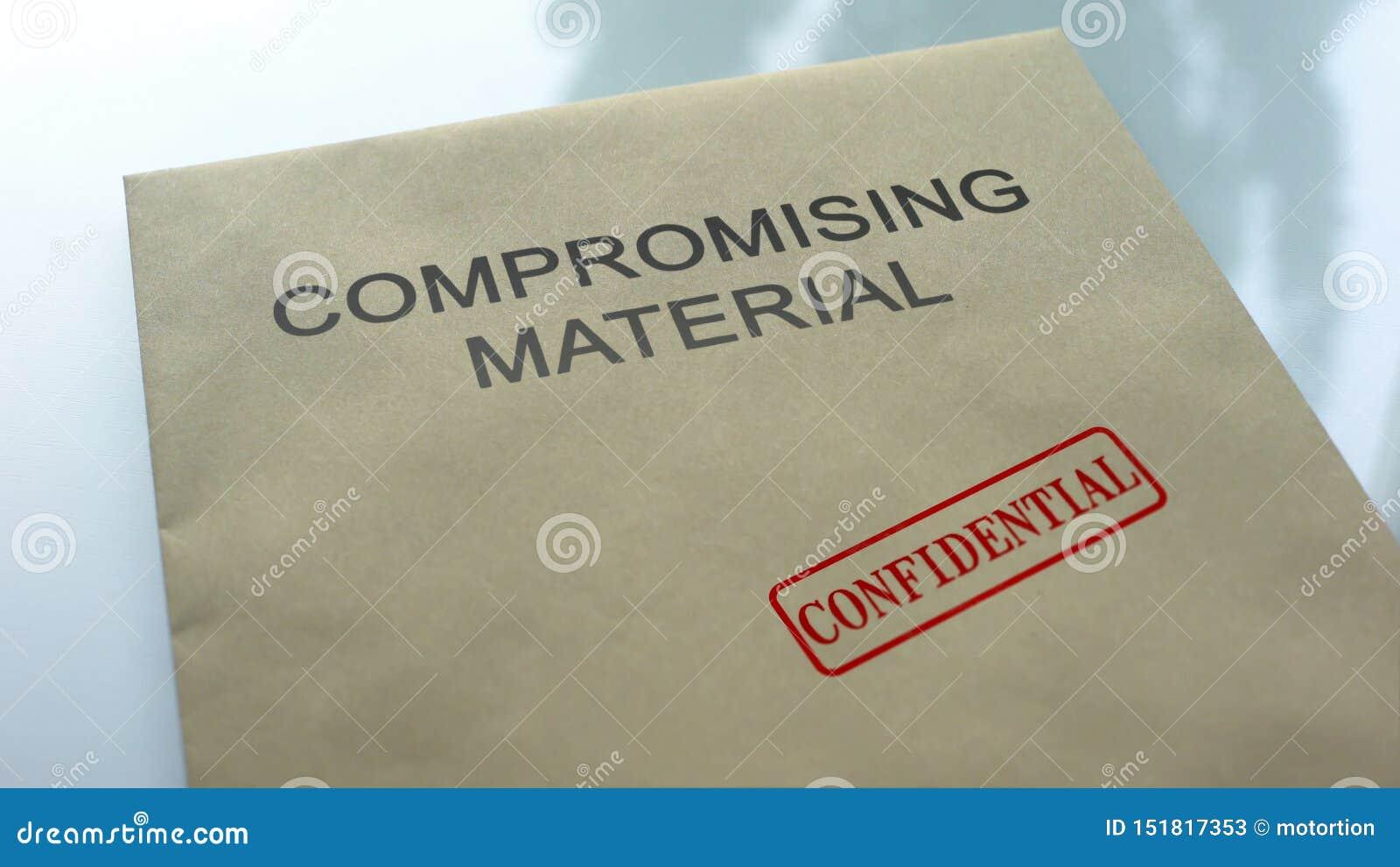 Υλικός εμπιστευτικός συμβιβασμού, σφραγίδα που σφραγίζεται στο φάκελλο με τα έγγραφα