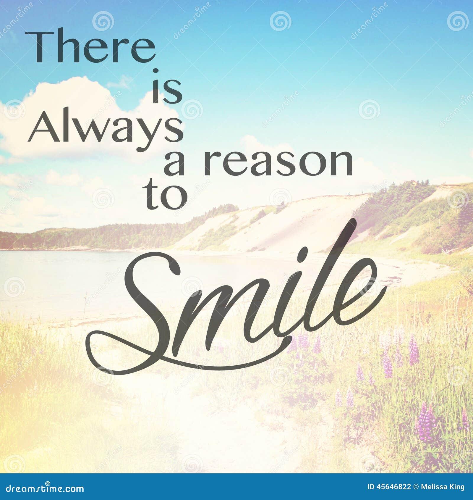 Υπάρχει πάντα λόγος να χαμογελάσει