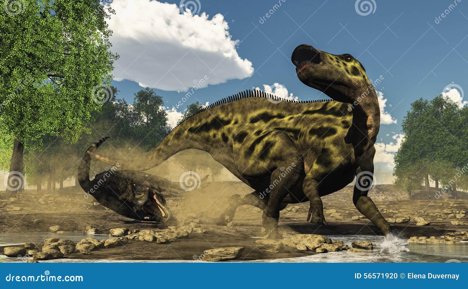 Download Υπεράσπιση Shantungosaurus από το Tarbosaurus Απεικόνιση αποθεμάτων - εικονογραφία από απεικόνιση, αρπακτικός: 56571920