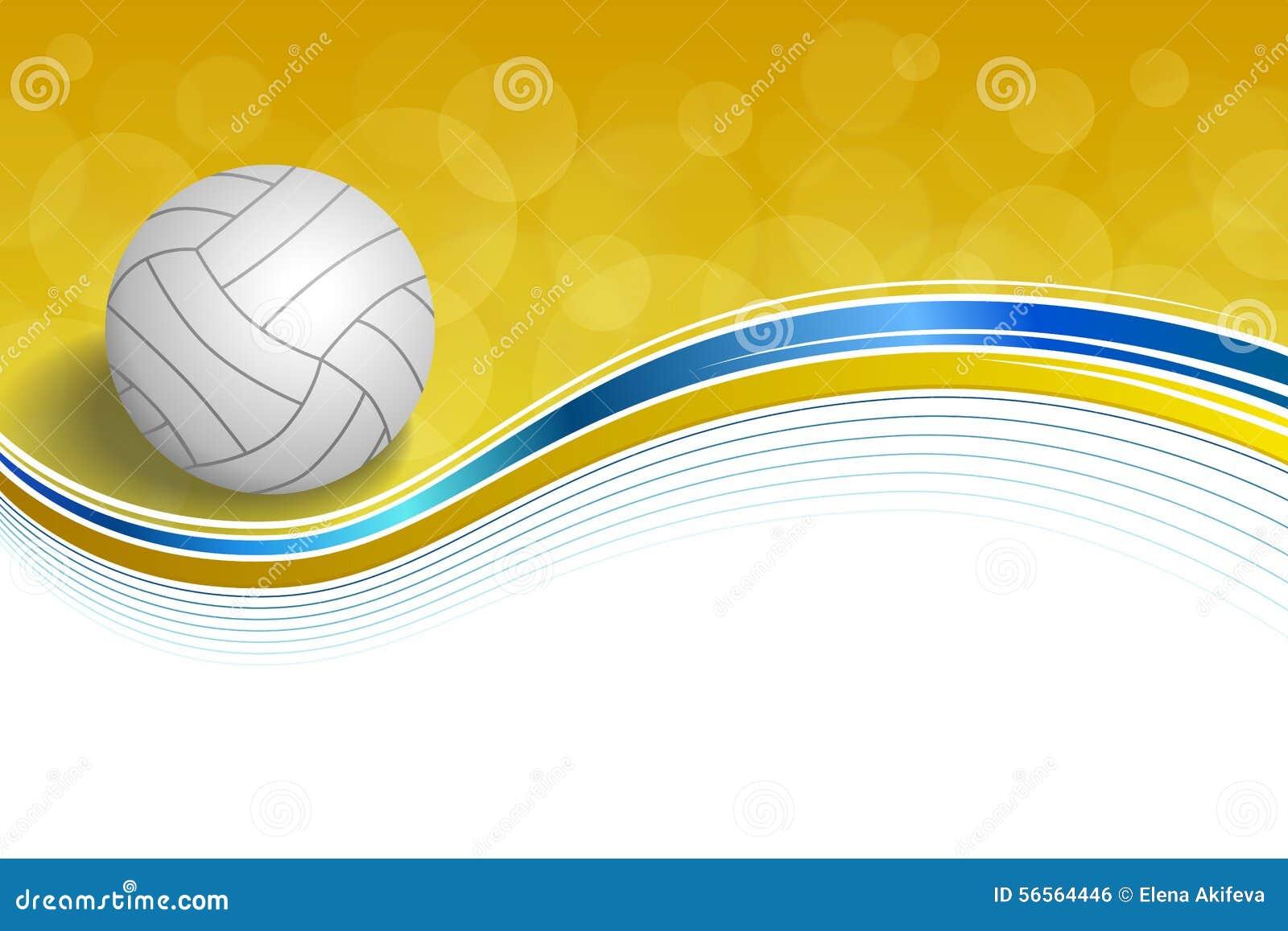 Download Υποβάθρου αφηρημένη απεικόνιση πλαισίων σφαιρών αθλητικής πετοσφαίρισης μπλε κίτρινη Διανυσματική απεικόνιση - εικονογραφία από γραμμές, εικόνα: 56564446