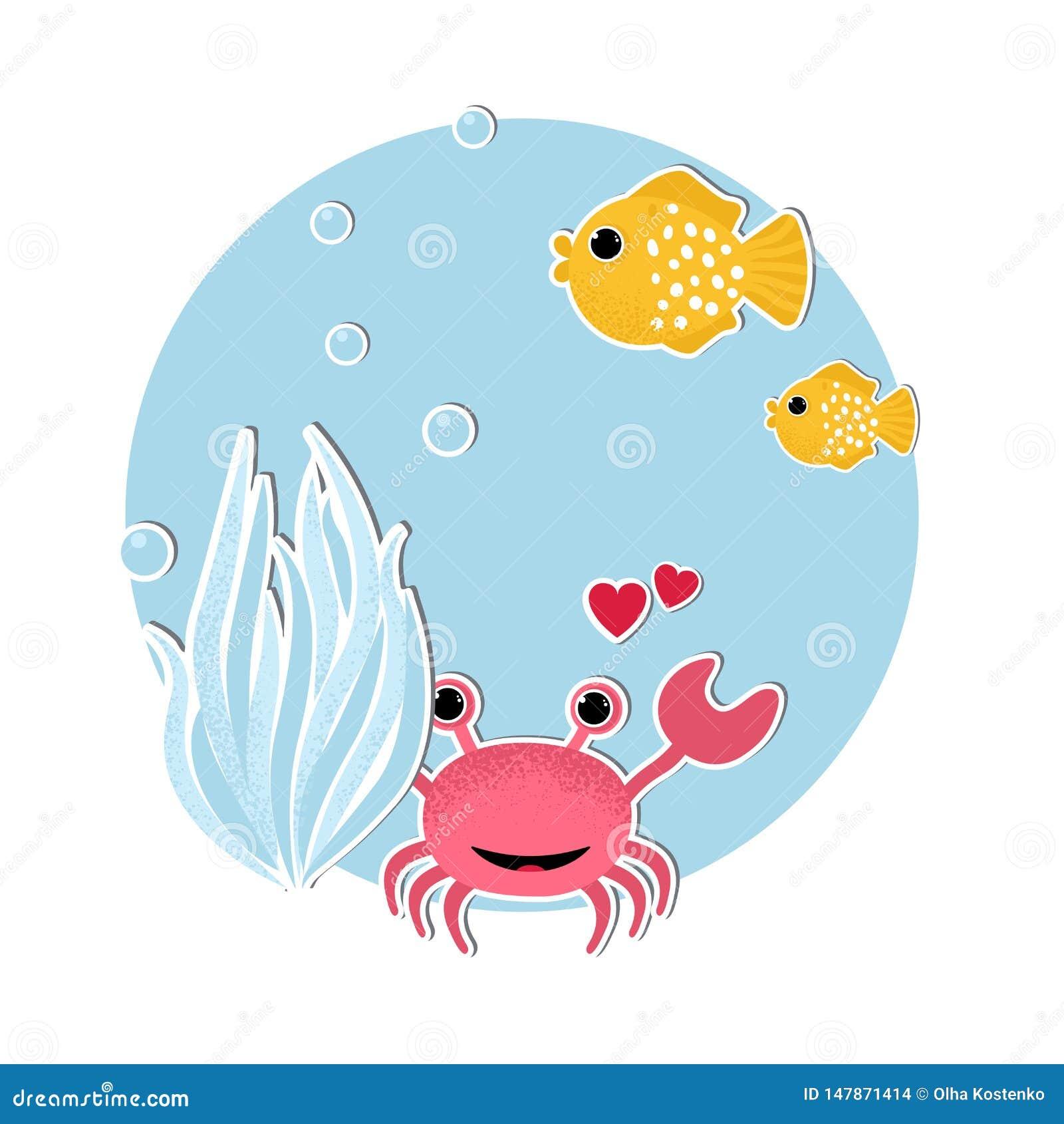 Υποβρύχιο έμβλημα με τα ψάρια,