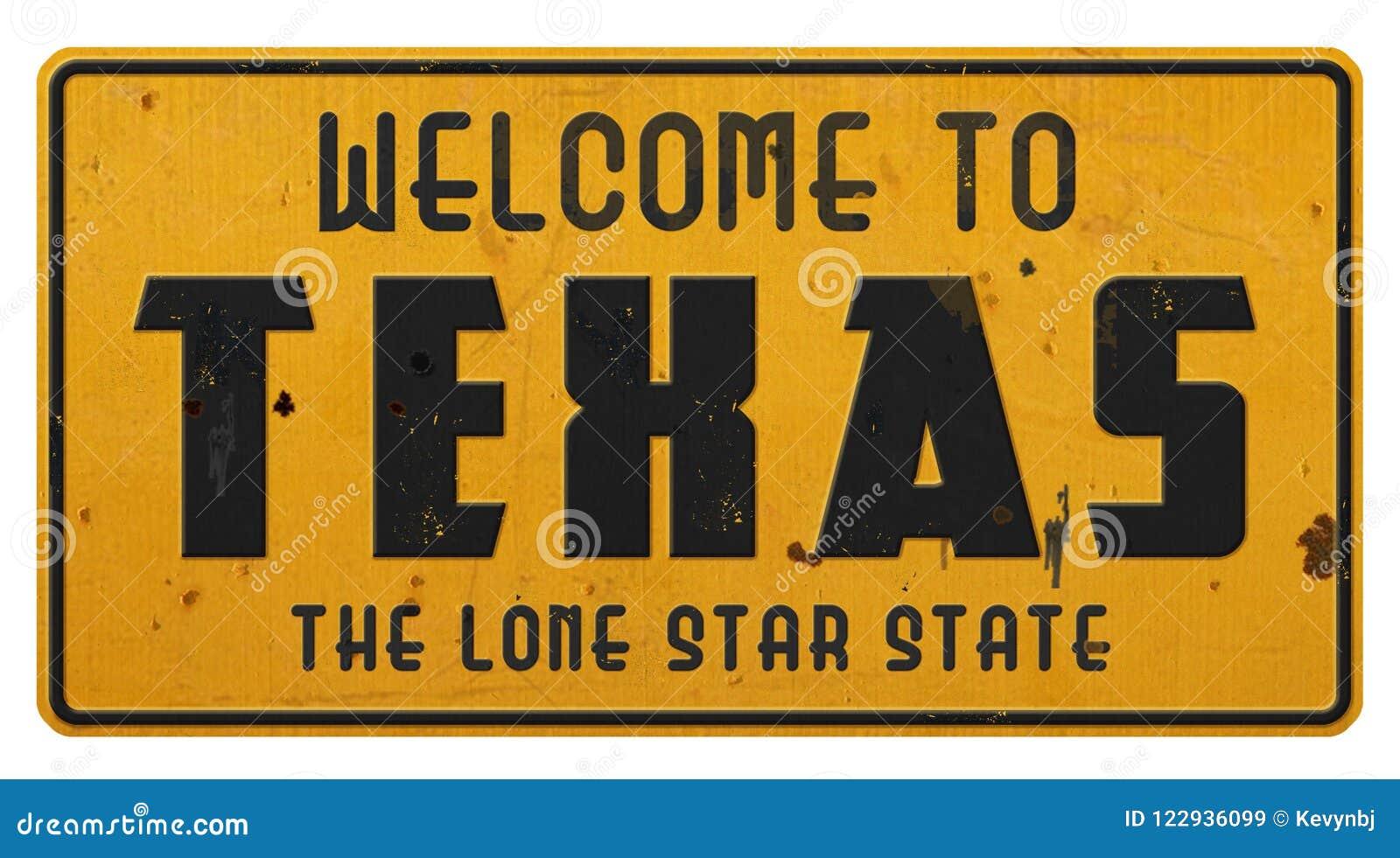 Υποδοχή οδικών σημαδιών του Τέξας στο Τέξας Grunge