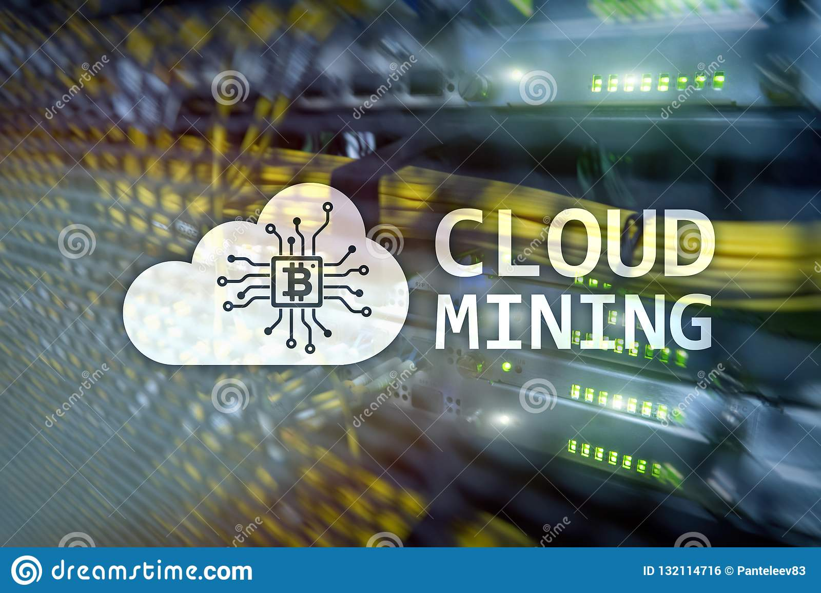 Υπολογισμός σύννεφων, στοιχεία ή cryptocurrency ( Bitcoin, Ethereum)  να εξαγάγει στο κέντρο δεδομένων Αίθουσα κεντρικών