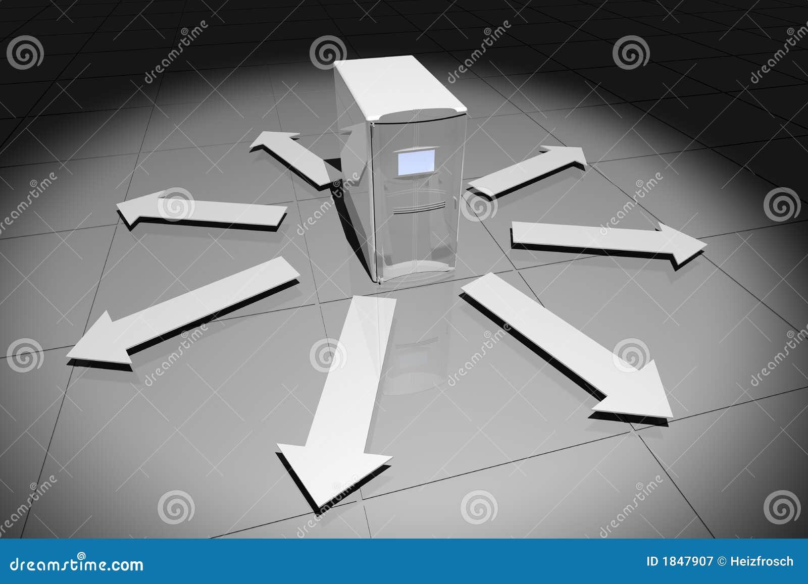 υπολογιστής βελών γκρίζ&