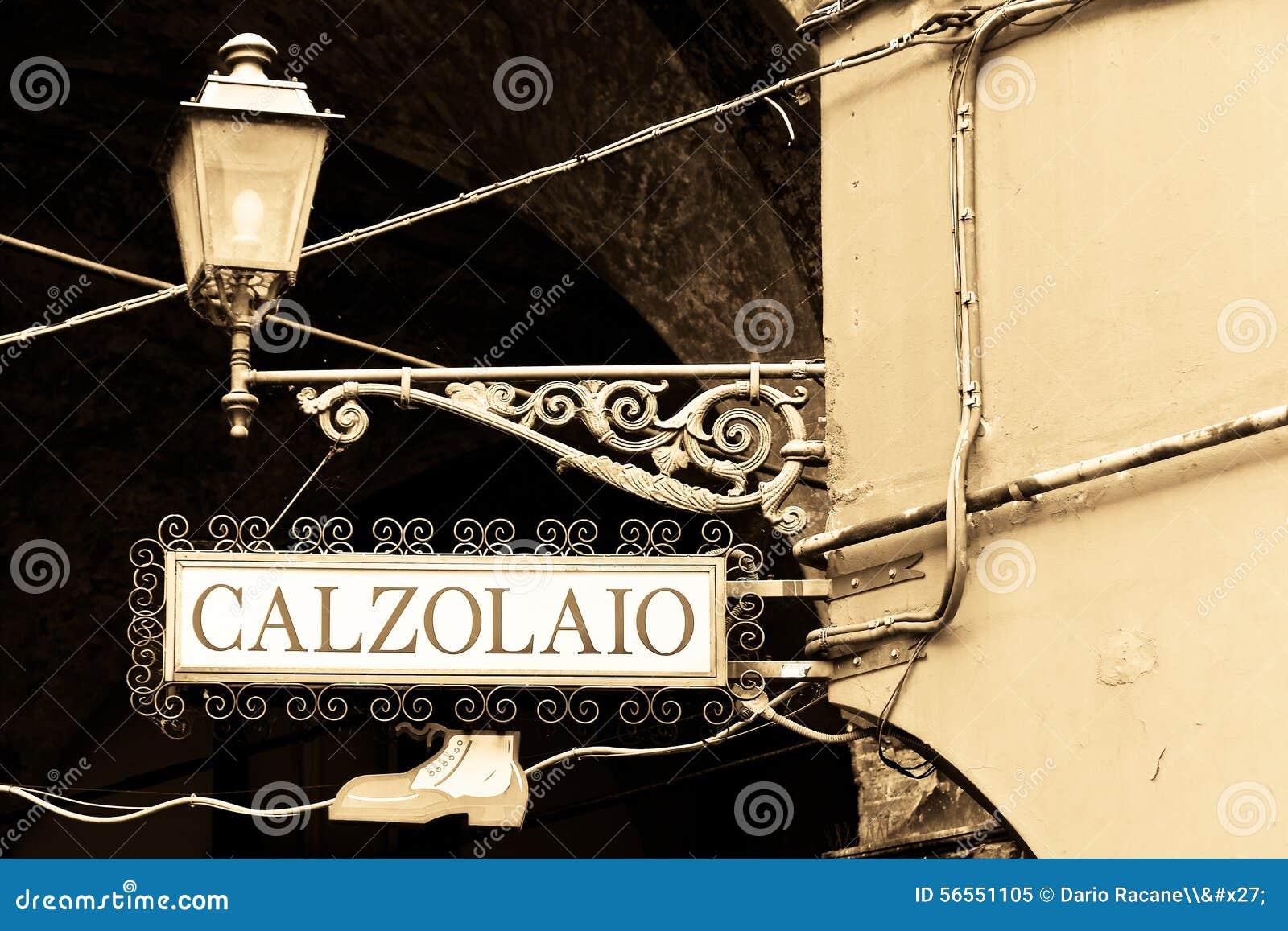 Download Υποδηματοποιός σημαδιών στα ιταλικά Στοκ Εικόνα - εικόνα από βιοτέχνης, χειροτεχνία: 56551105