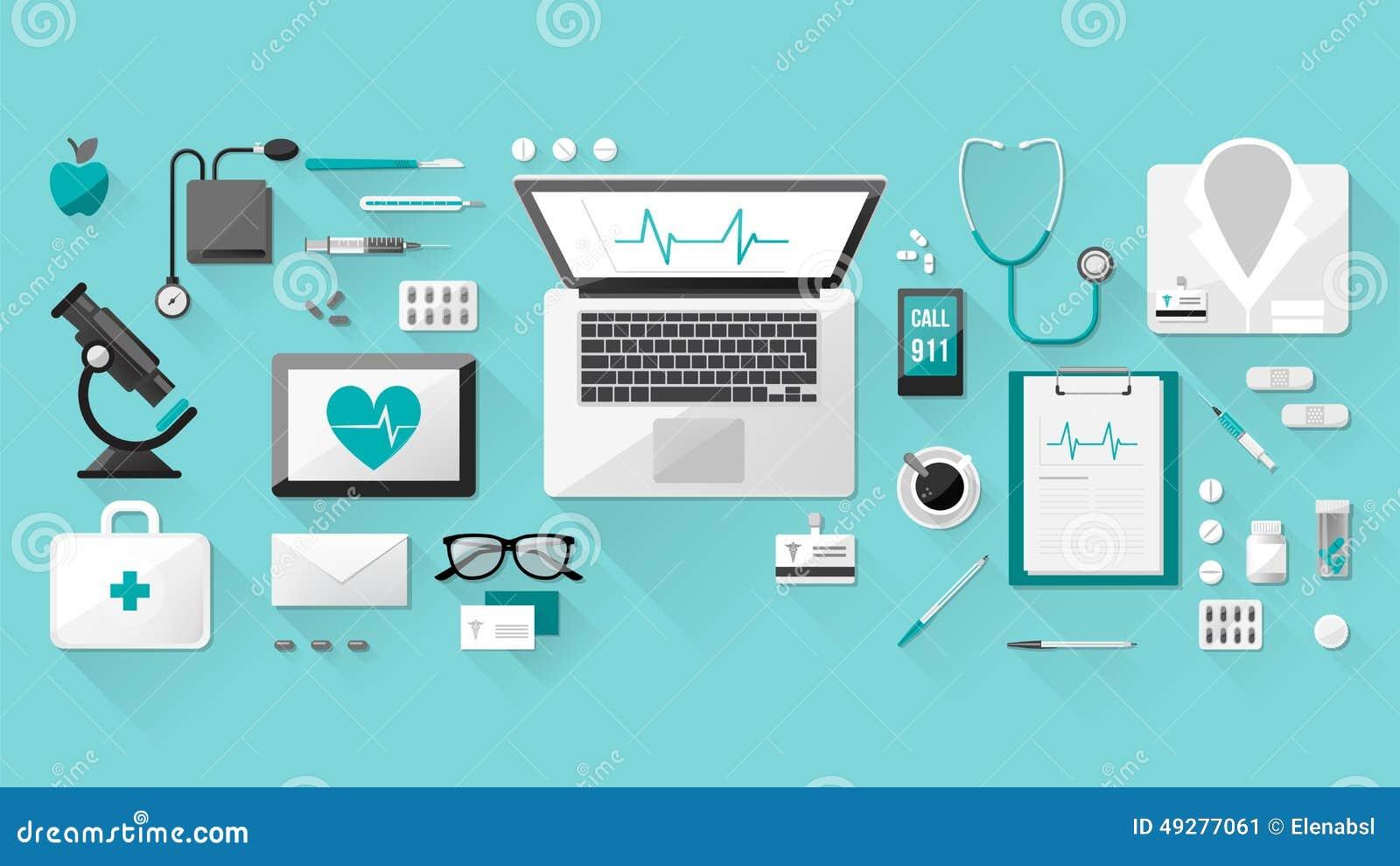 Υπολογιστής γραφείου γιατρού