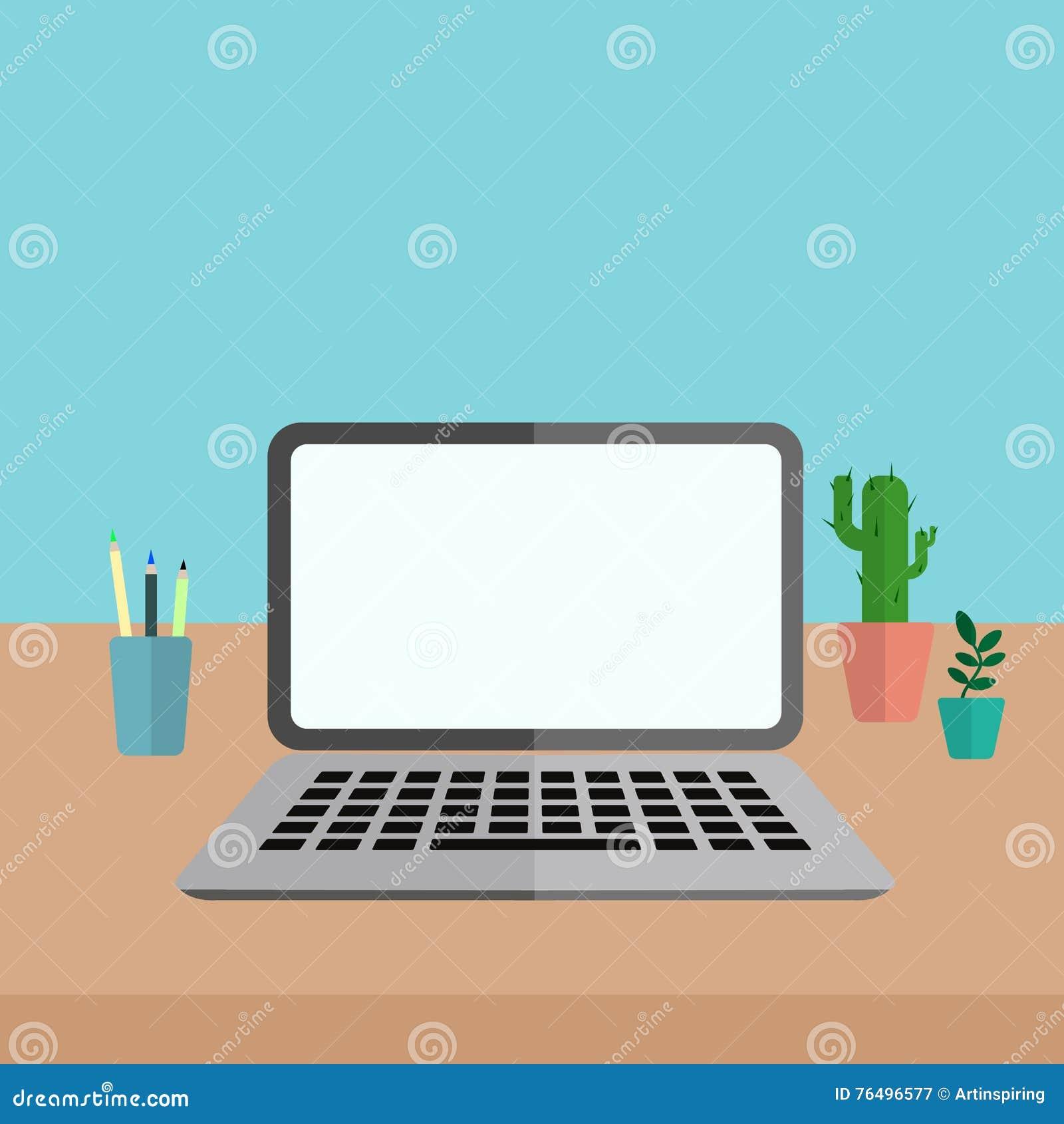 Υπολογιστής γραφείου με το lap-top