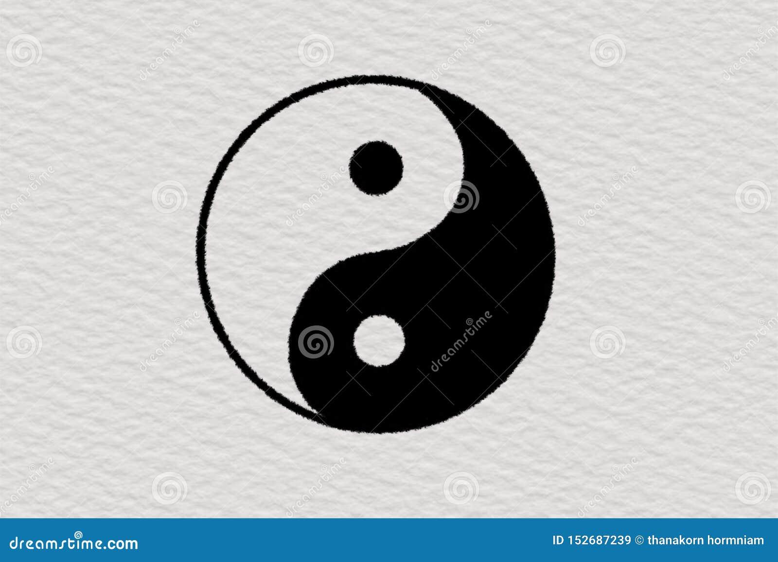 Υπόβαθρο εγγράφου Ying και yang απεικόνισης