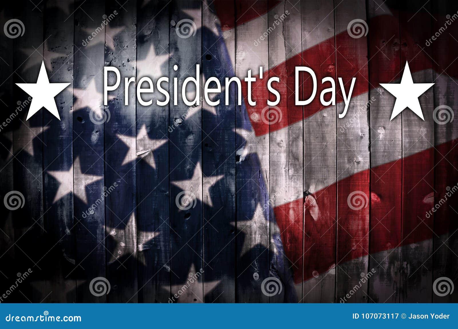 Υπόβαθρο ημέρας Προέδρου _ s στο ξύλο