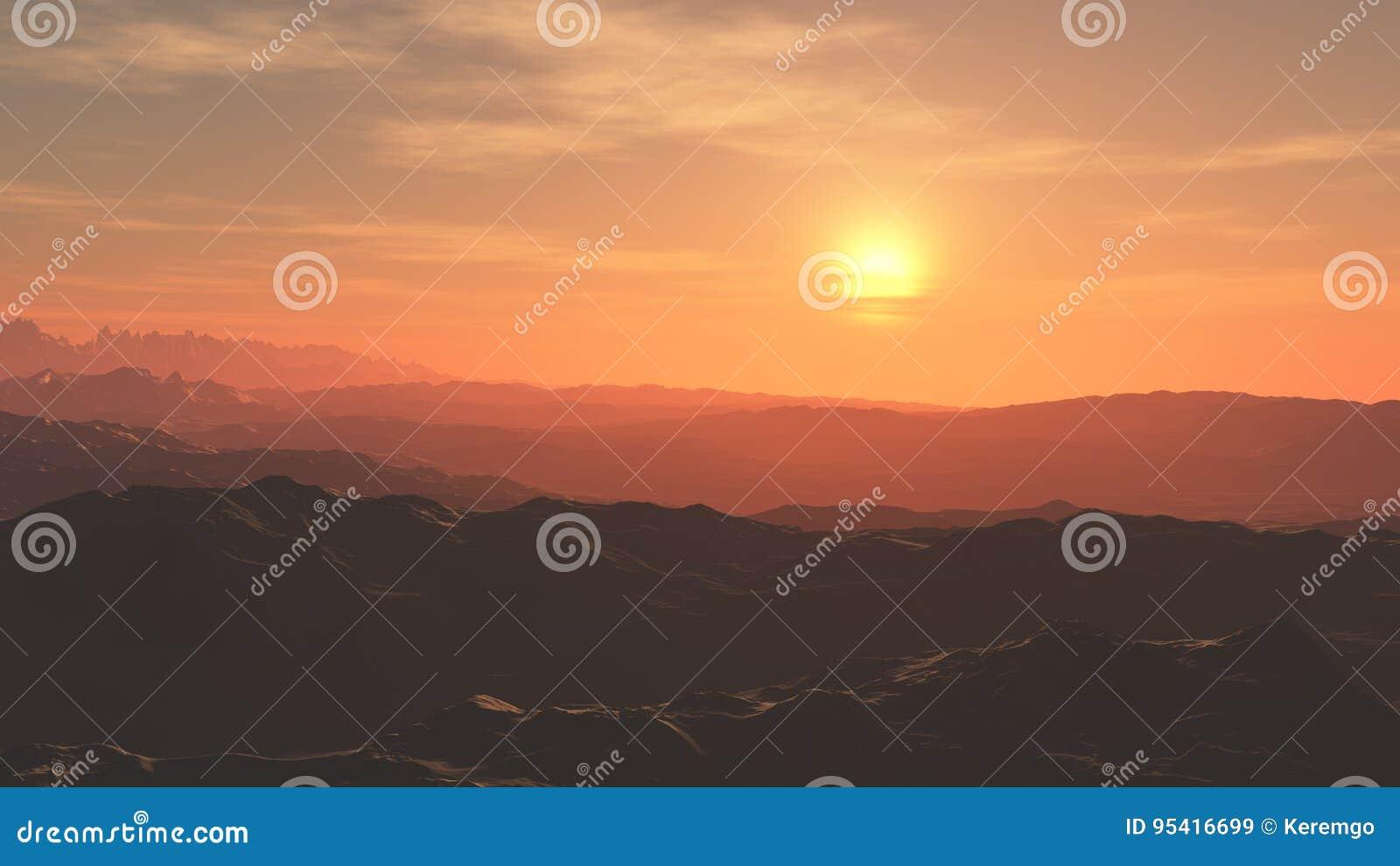 Υπόβαθρο ηλιοβασιλέματος ερήμων