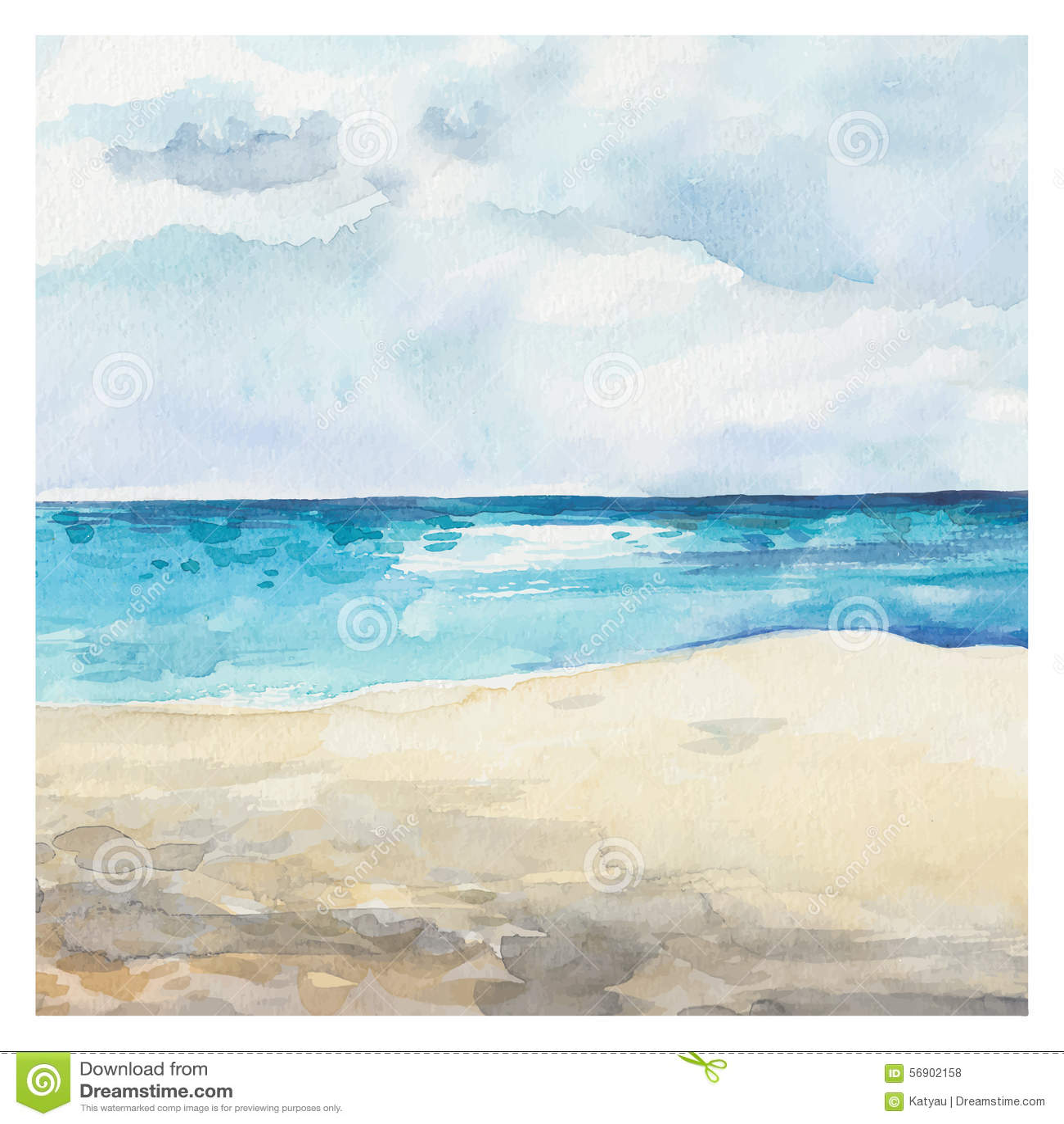 Υπόβαθρο θάλασσας Watercolor