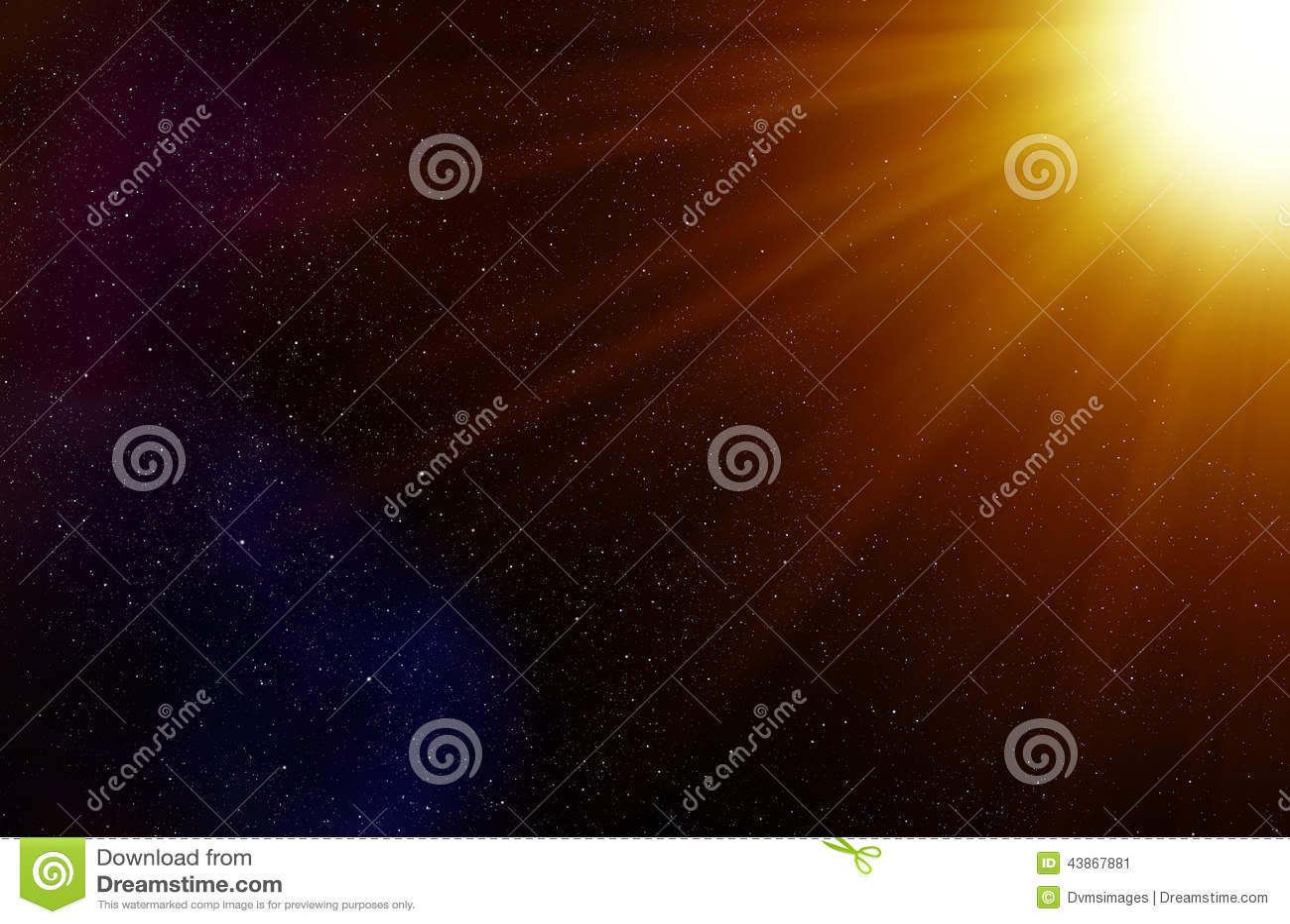 Υπόβαθρο διαστημικών αστεριών και ελαφριών ακτίνων