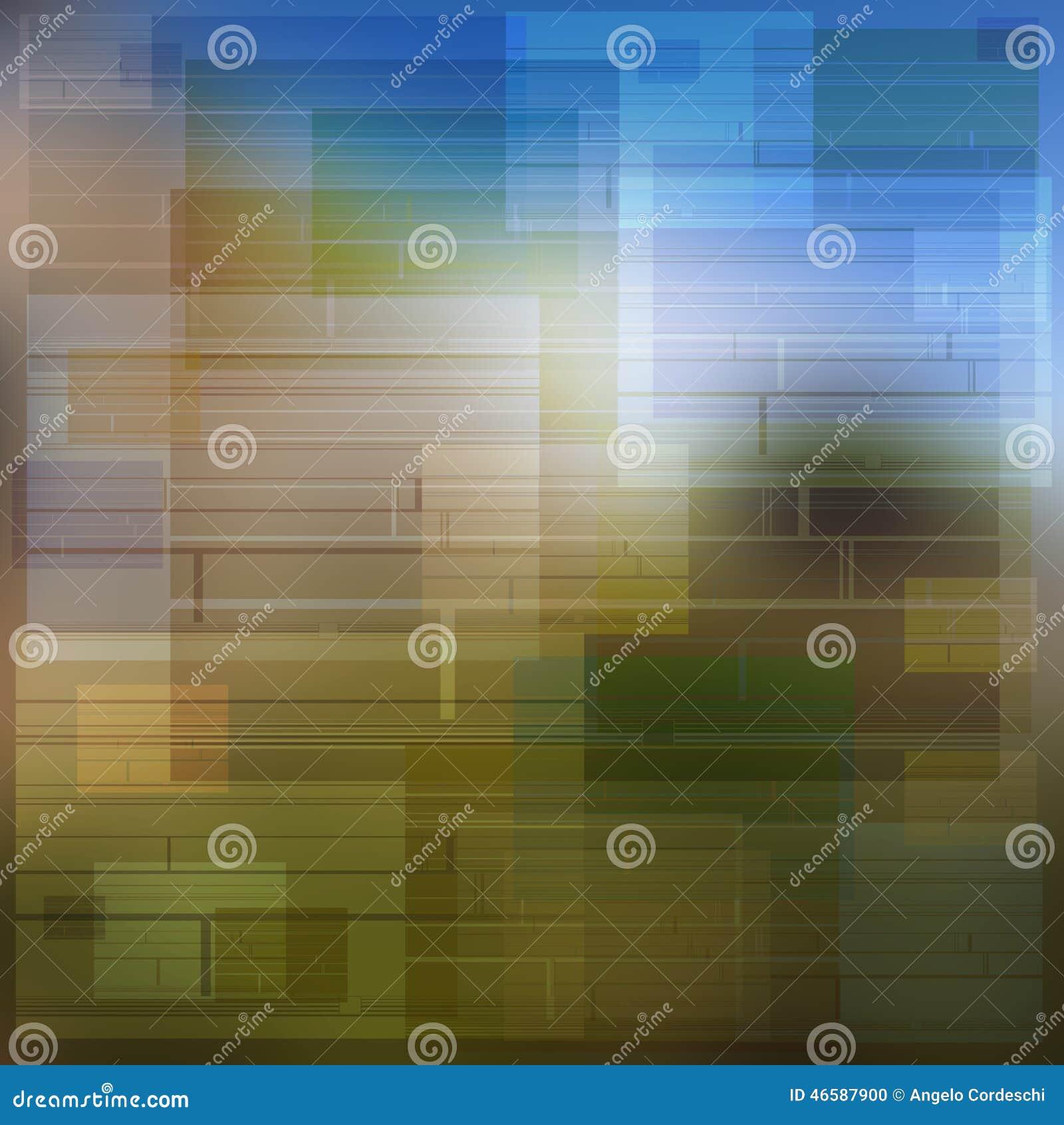 Υπόβαθρο ιδέας των πολύχρωμων τετραγώνων και των σκιών ορθογωνίων