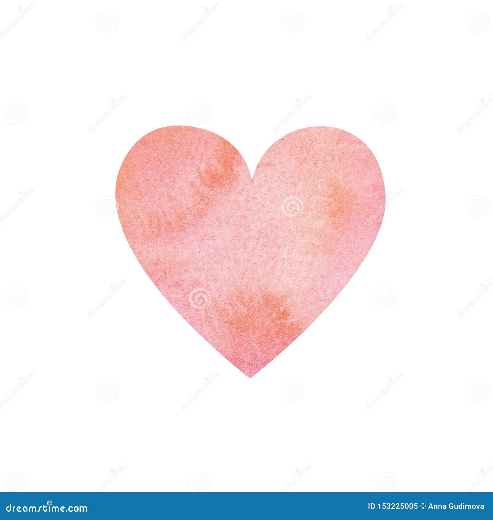 Υπόβαθρο καρδιών ροζ Watercolor και χρώματος κοραλλιών