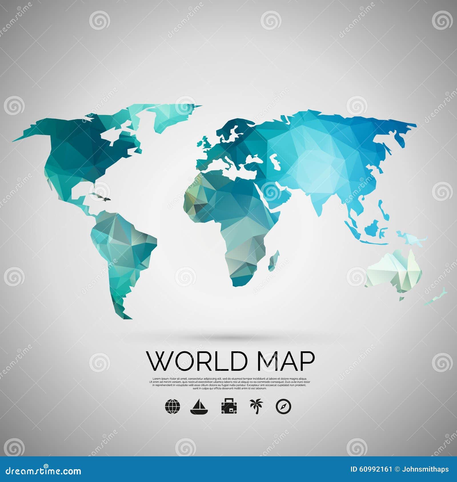 Υπόβαθρο παγκόσμιων χαρτών στο polygonal ύφος