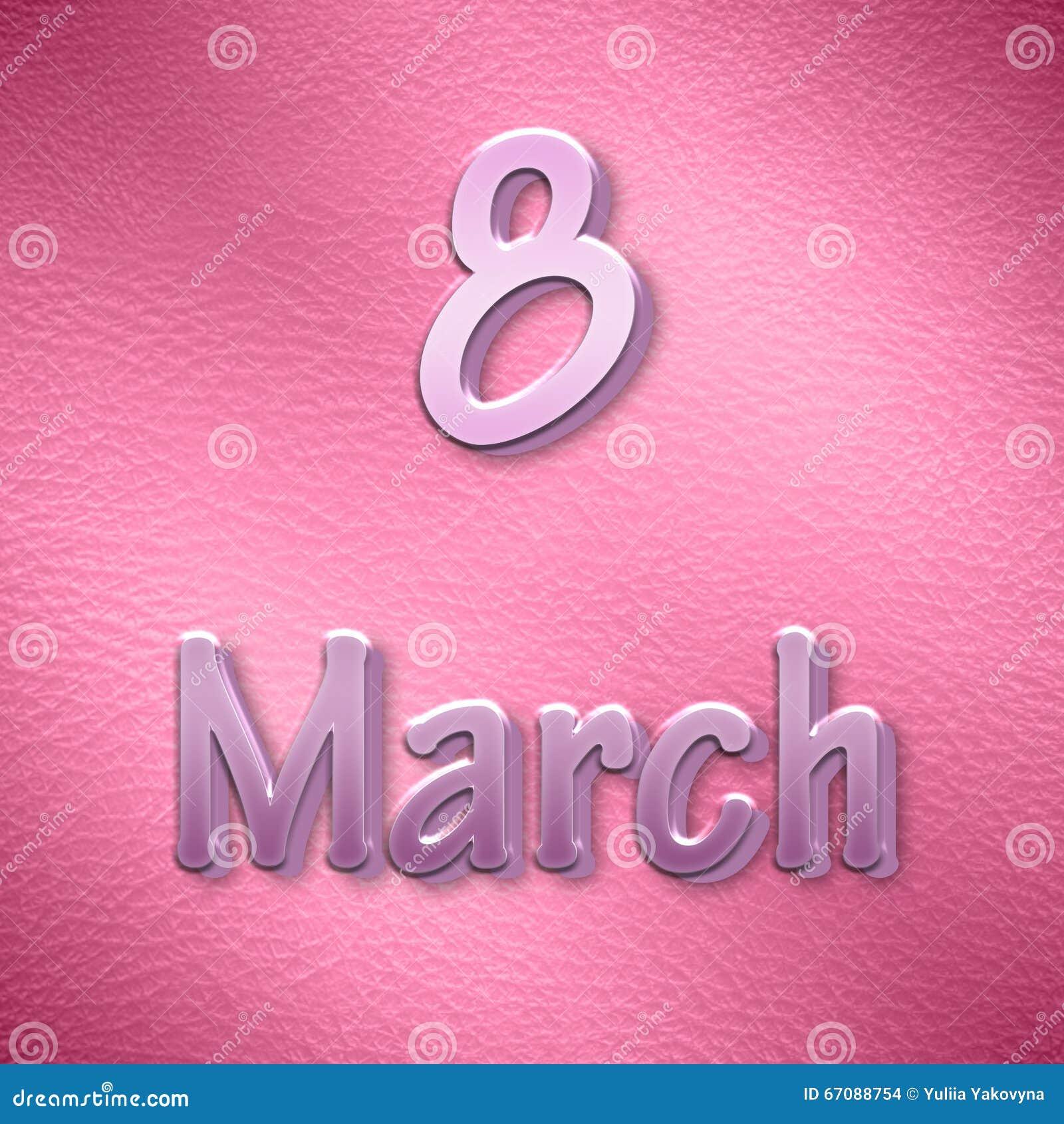 Υπόβαθρο στην ημέρα των διεθνών γυναικών στο ροζ