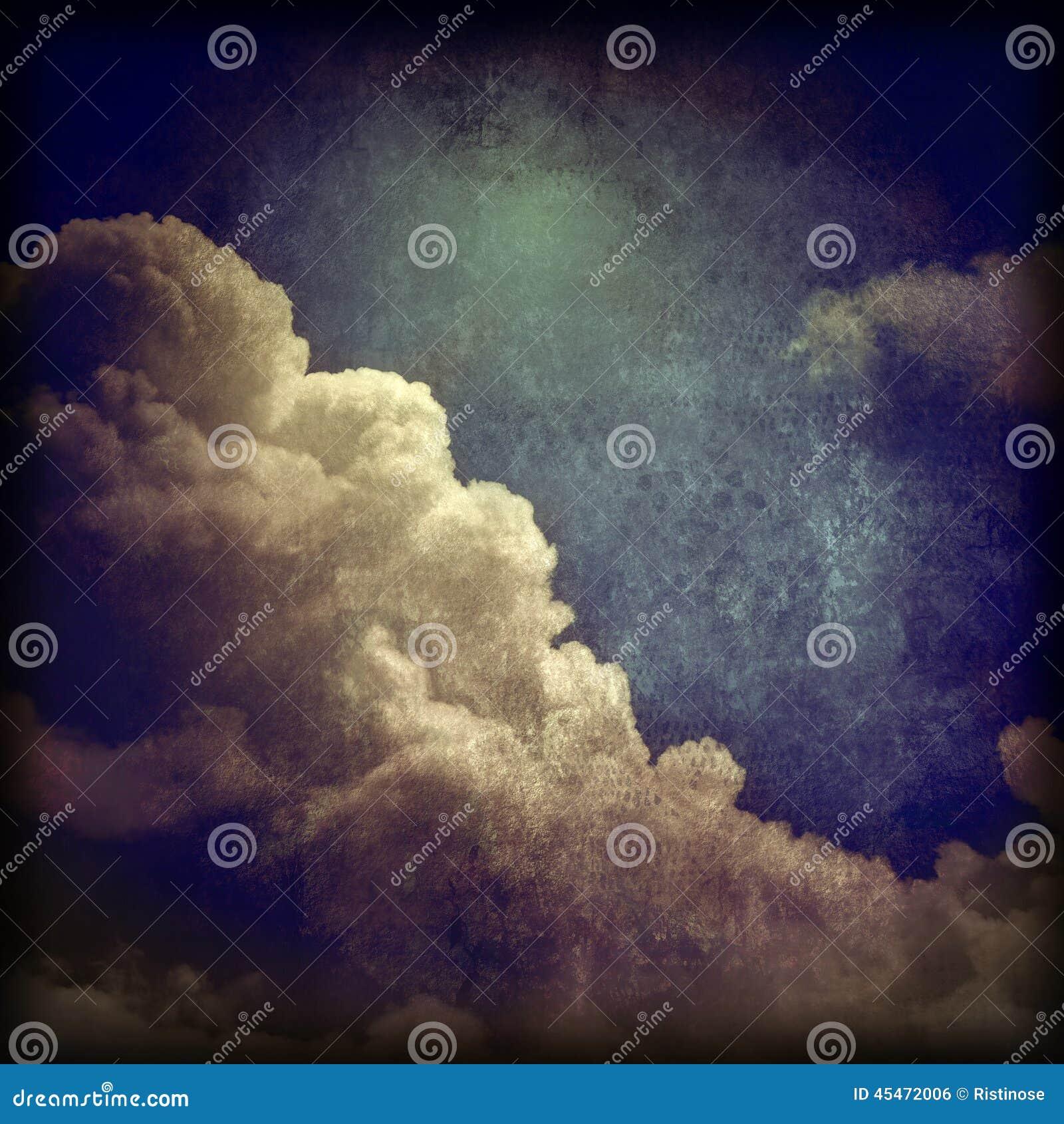 Υπόβαθρο σύννεφων Grunge