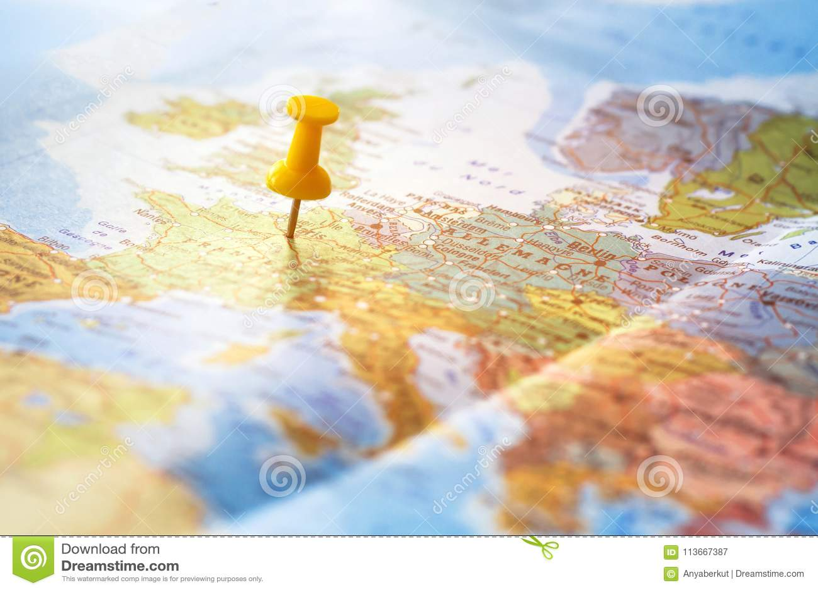 Υπόβαθρο ταξιδιού, προορισμός στον παγκόσμιο χάρτη