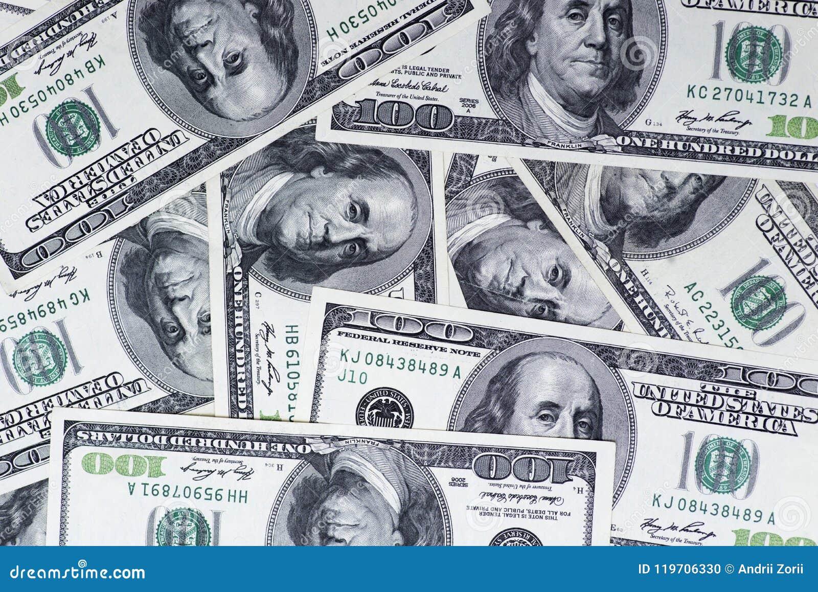 Υπόβαθρο των λογαριασμών 100 δολαρίων