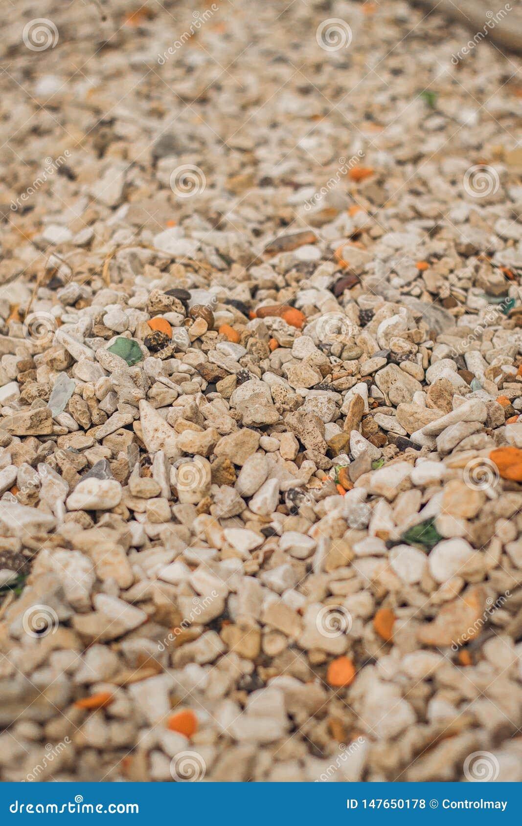 Υπόβαθρο των πετρών και των χαλικιών