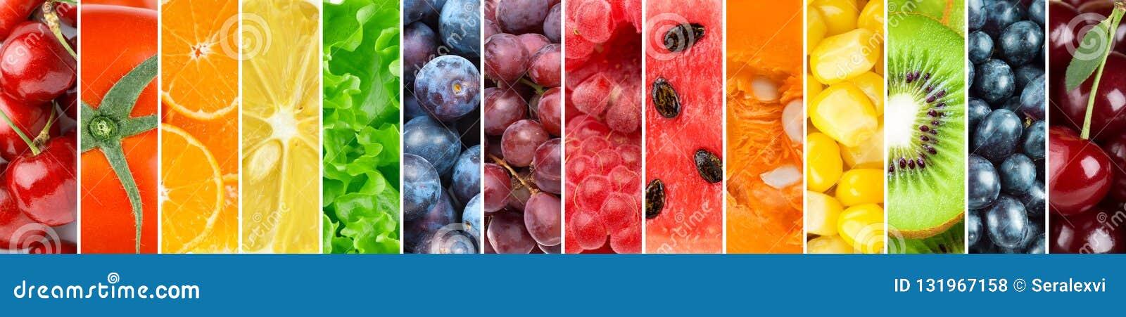 υπόβαθρο των φρέσκων φρούτων και λαχανικών
