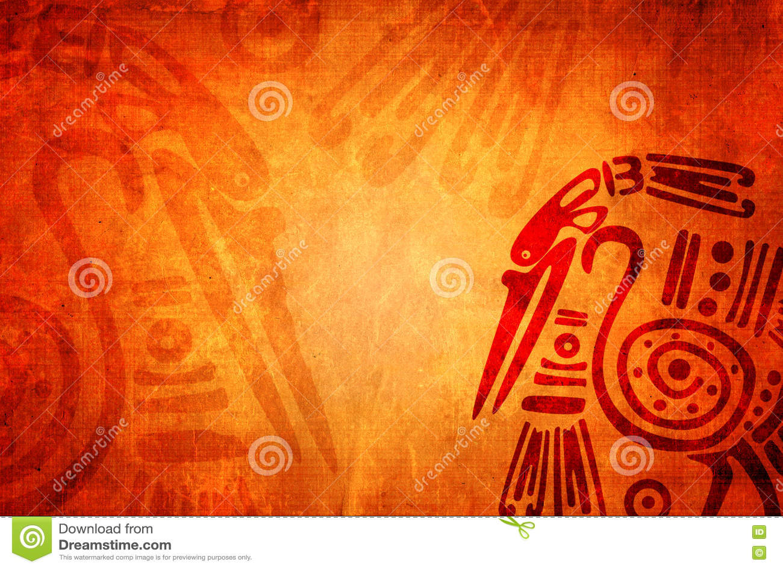 Υπόβαθρο Grunge με τα αμερικανικά ινδικά παραδοσιακά σχέδια