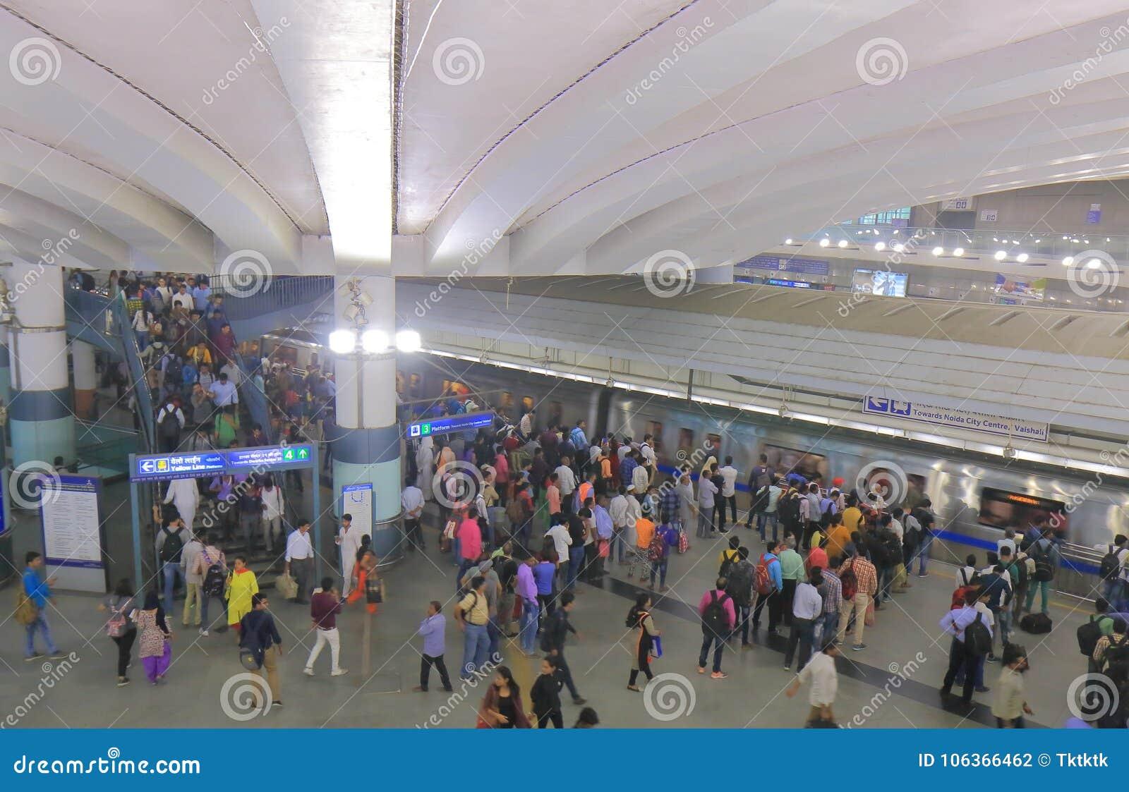 Υπόγειος υπόγειο Νέο Δελχί Ινδία μετρό
