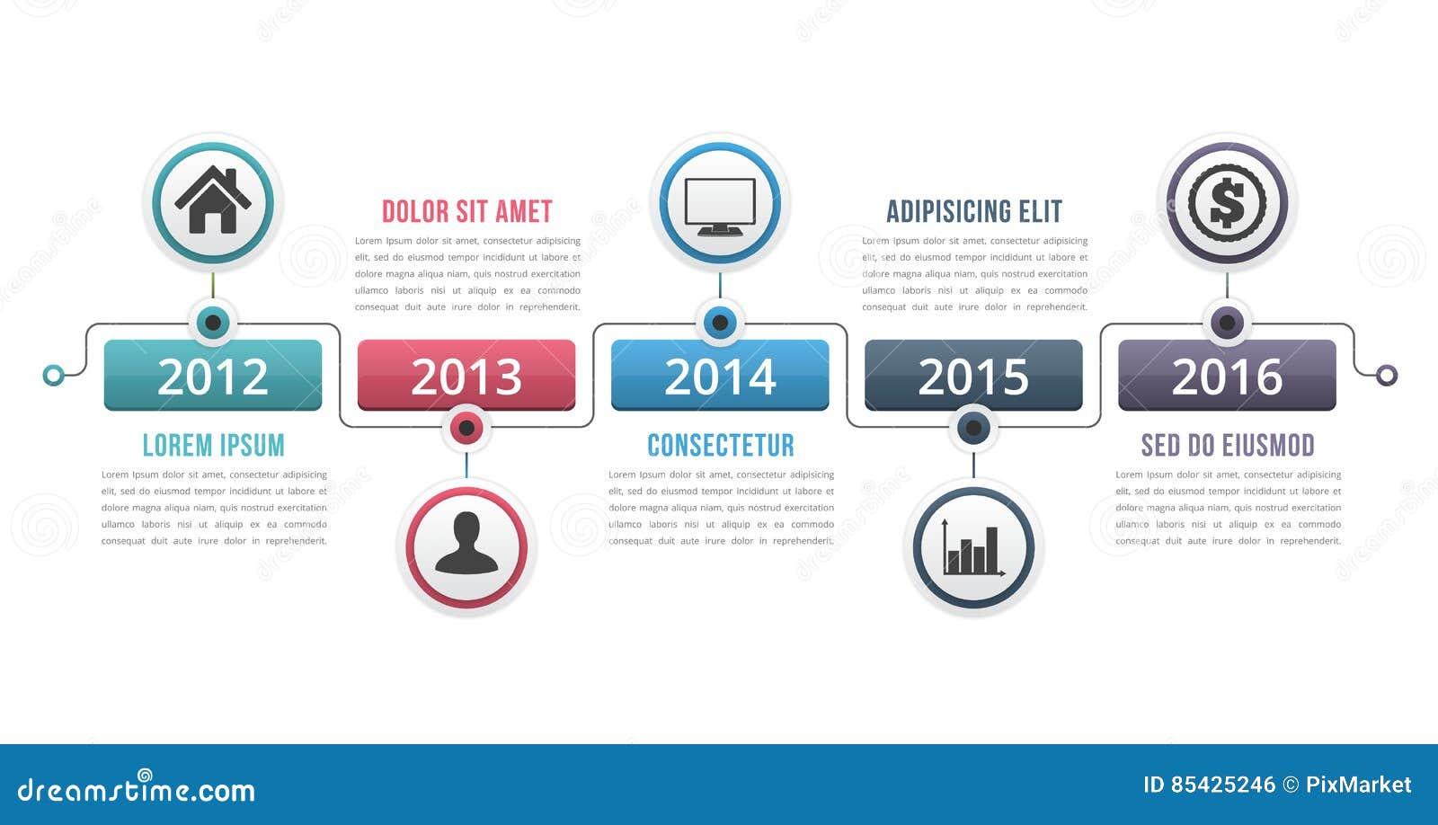 Υπόδειξη ως προς το χρόνο Infographics