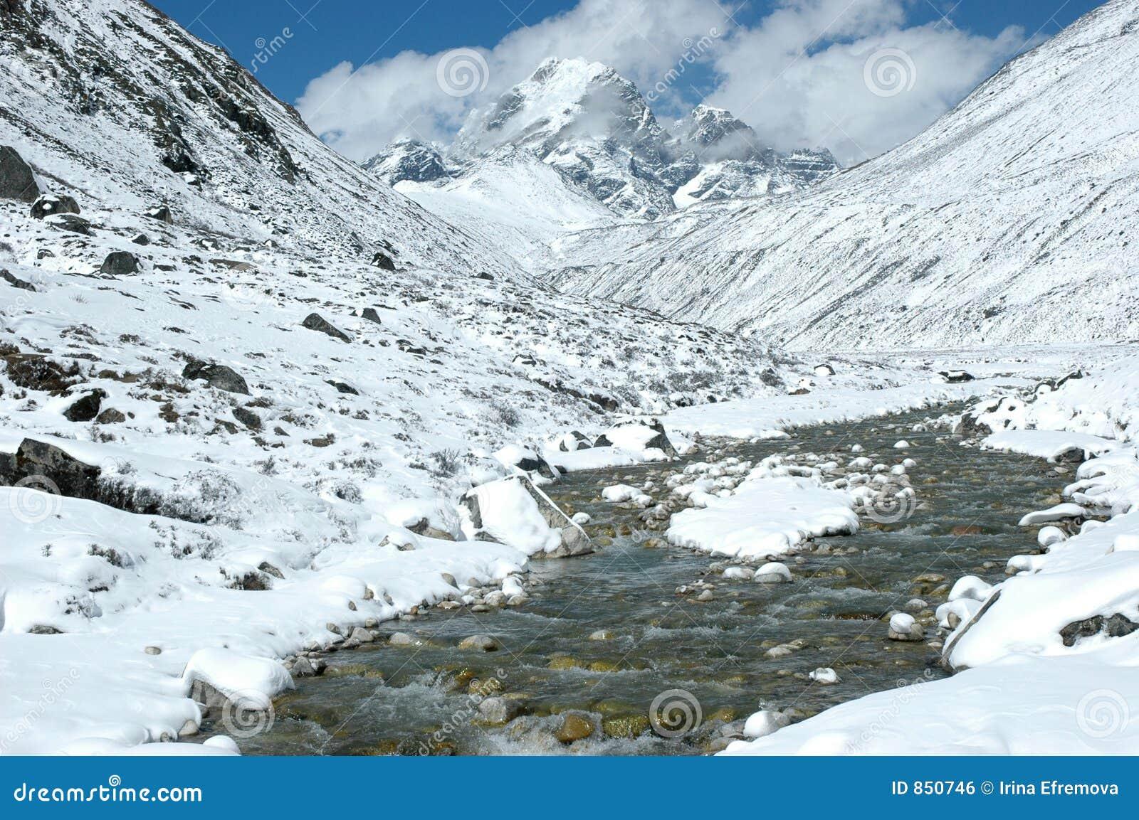 υψηλός ποταμός του Ιμαλ&alph
