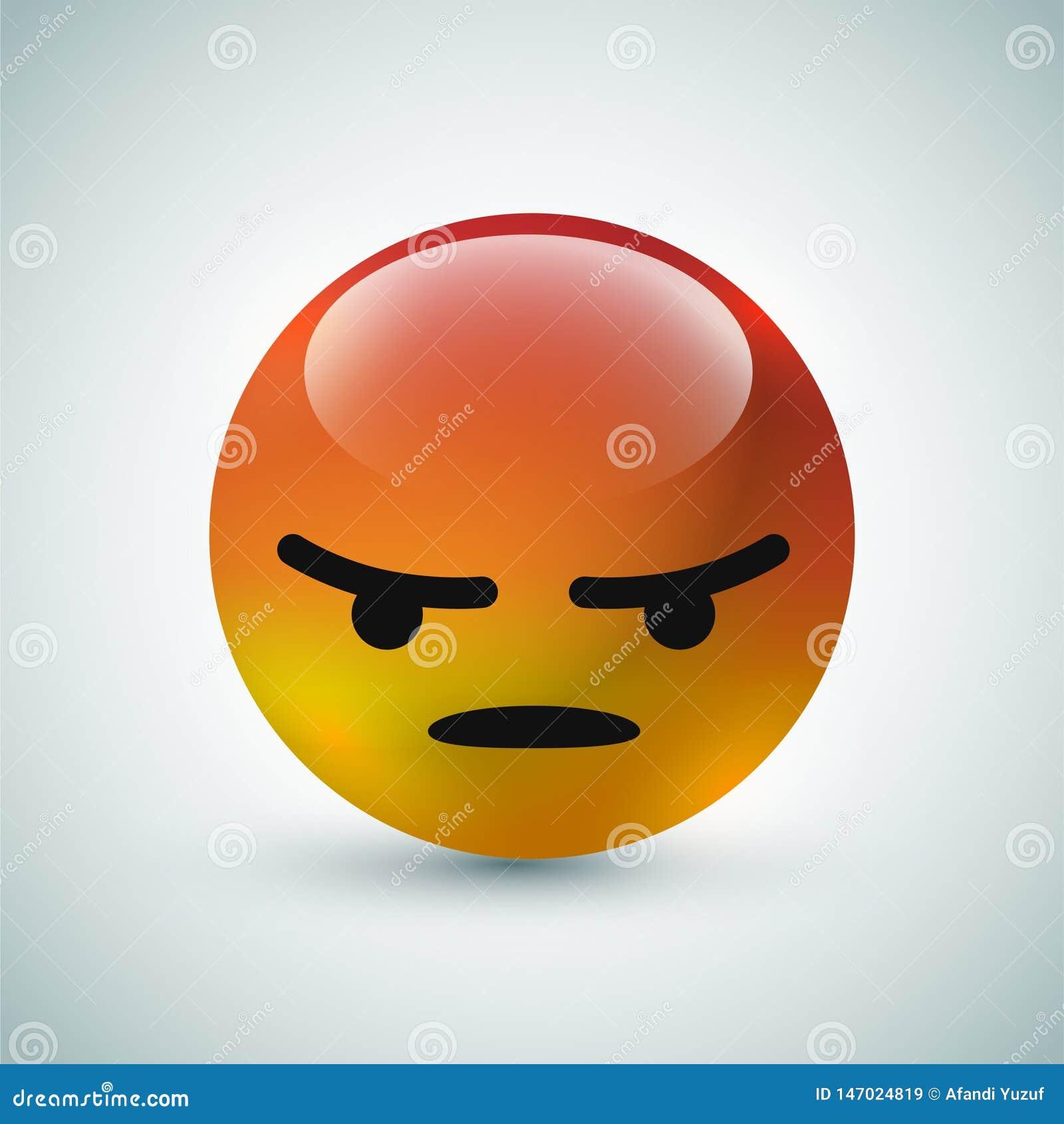 Υψηλός - φυσαλίδα ποιοτικών η τρισδιάστατη διανυσματική στρογγυλή κίτρινη κινούμενων σχεδίων emoticons για τα κοινωνικά μέσα κουβ