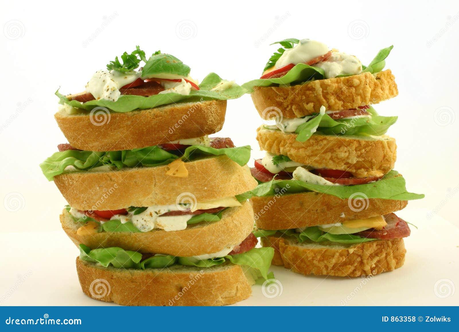 υψηλό σάντουιτς δύο
