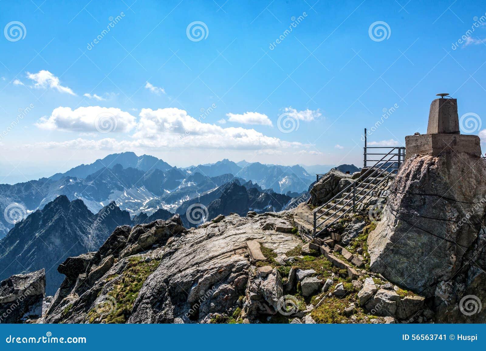Download Υψηλό Tatras, τοπίο από Lomnicky Stit Στοκ Εικόνα - εικόνα από όψη, αιχμή: 56563741