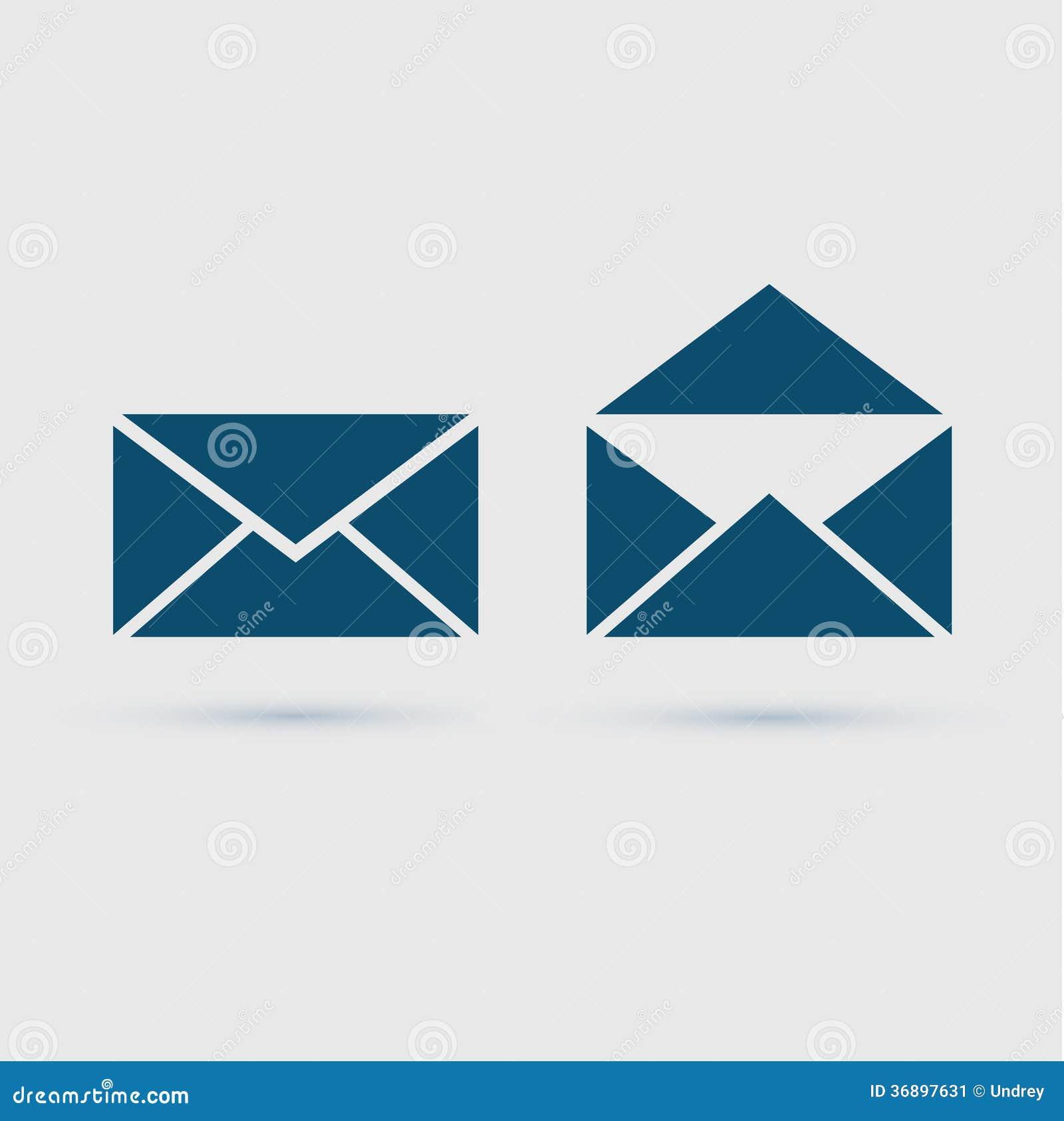 Φάκελος εικονιδίων ηλεκτρονικού ταχυδρομείου, διανυσματική απεικόνιση