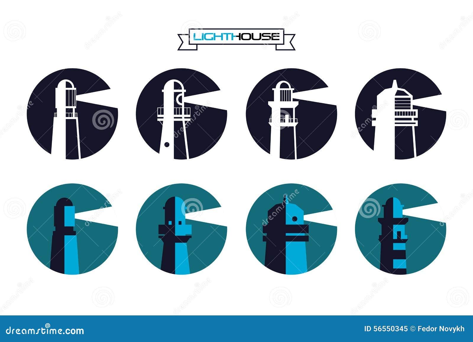 Download Φάρος γύρω από τα διακριτικά Διανυσματική απεικόνιση - εικονογραφία από έμβλημα, γραμμή: 56550345
