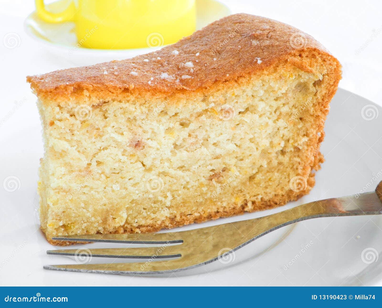 φέτα καρπού δικράνων κέικ