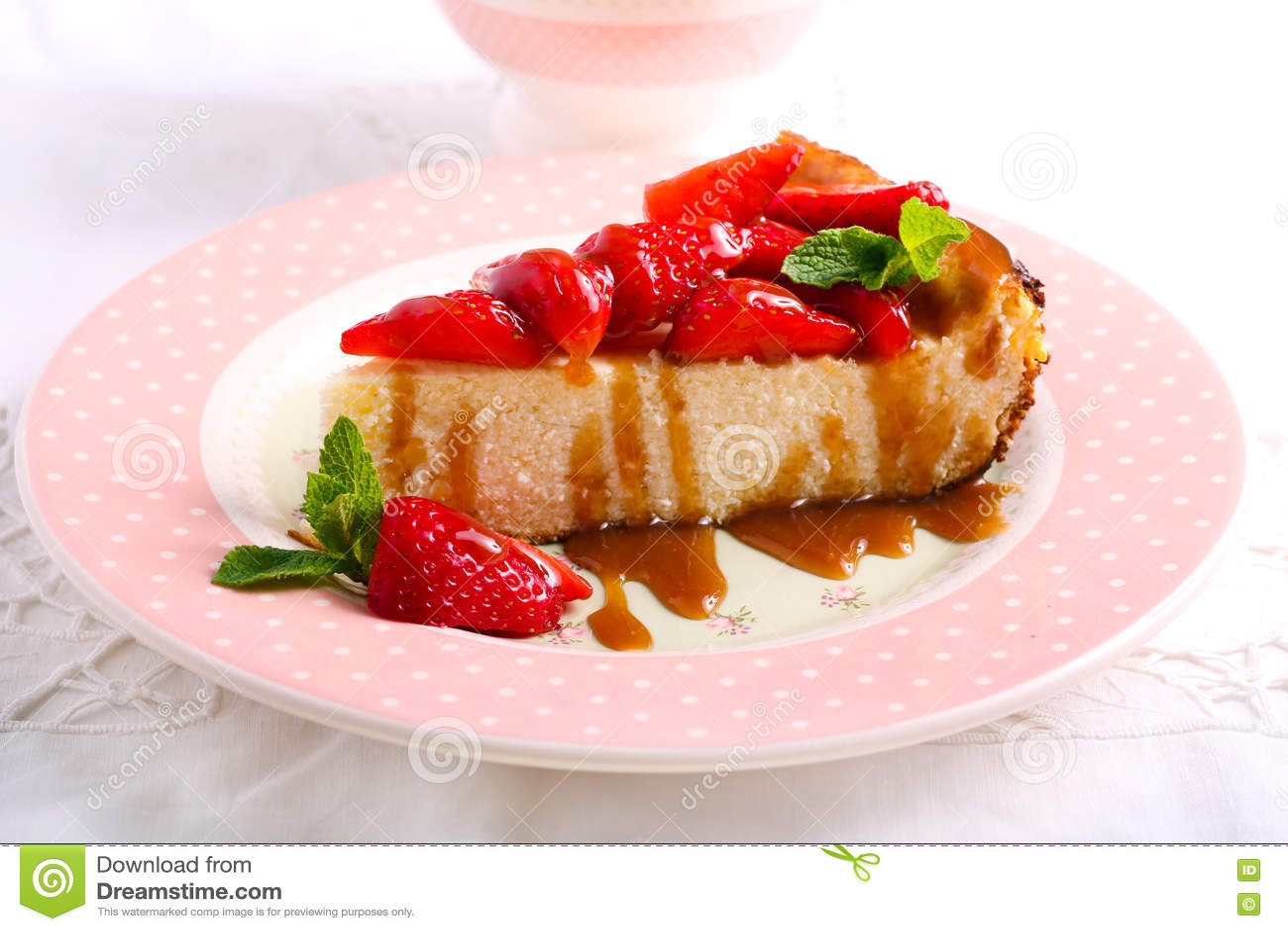 Φέτα cheesecake με τη φράουλα