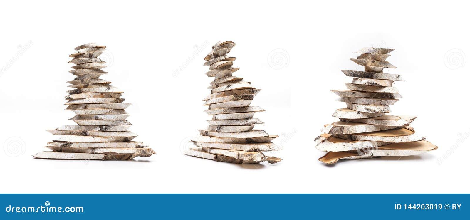 Φέτες ξύλου σημύδων