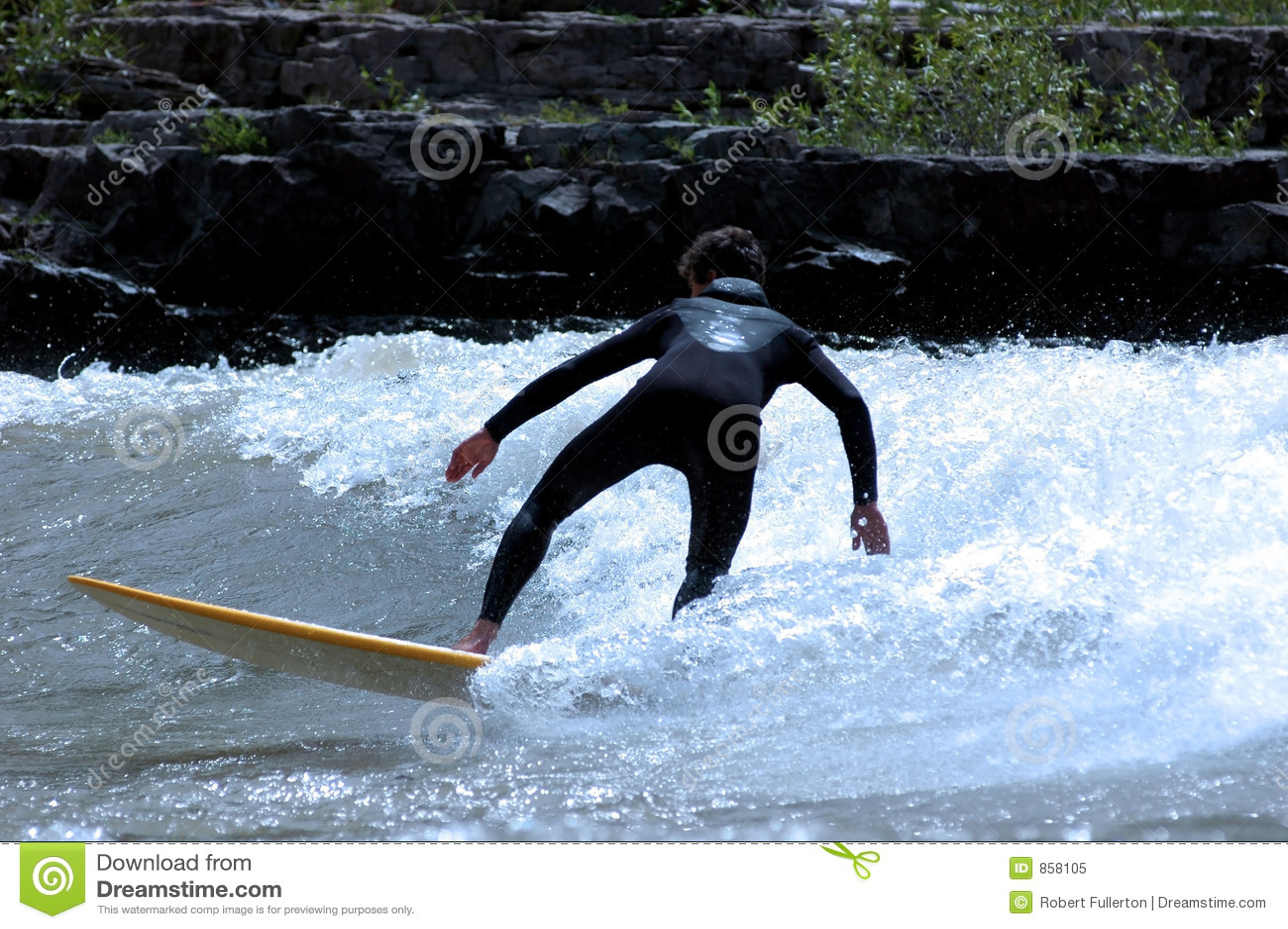 φίδι ποταμών surfer