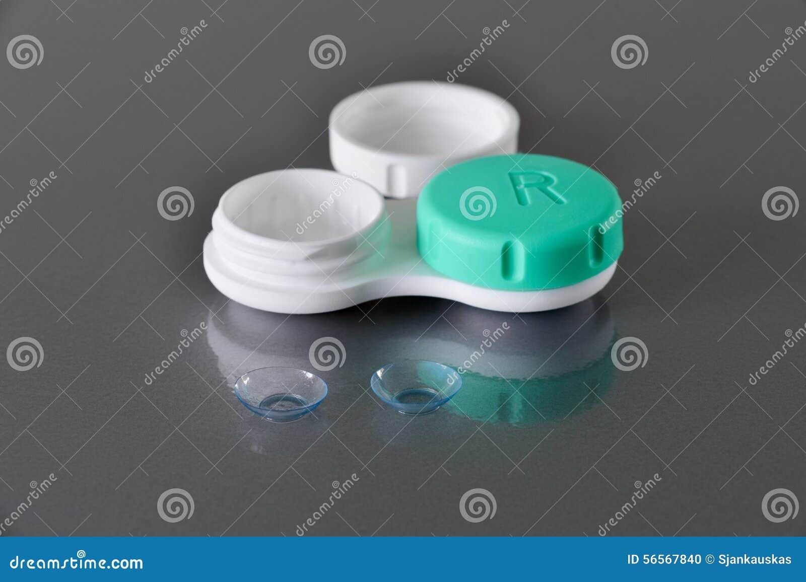 Download Φακοί επαφής και εμπορευματοκιβώτιο Στοκ Εικόνες - εικόνα από διόρθωση, οφθαλμολόγος: 56567840