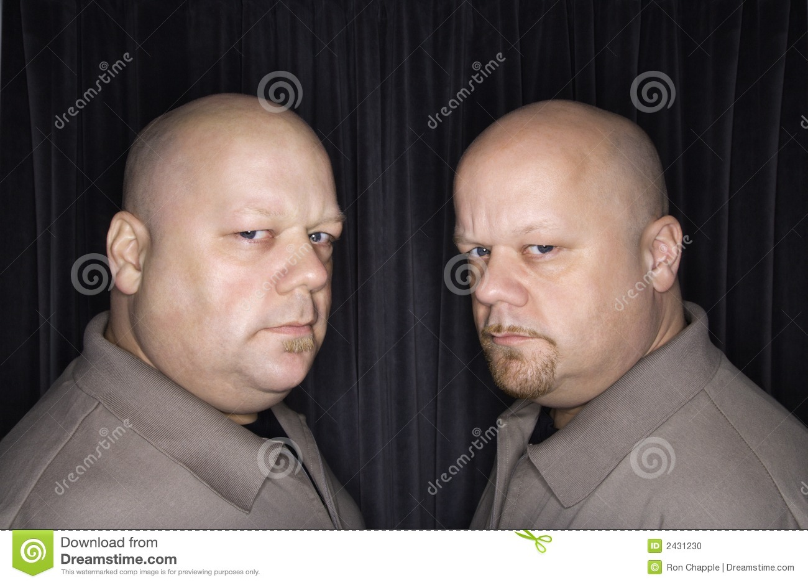 φαλακρό δίδυμο ατόμων