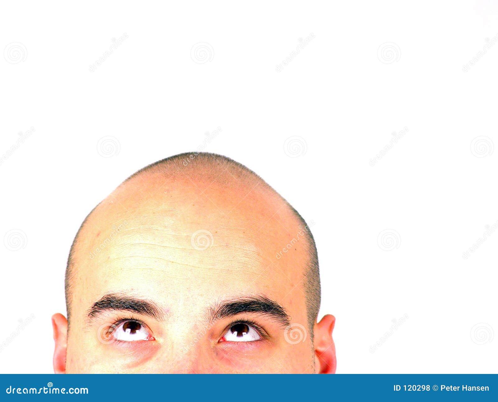 φαλακρό κεφάλι που ανατρέ